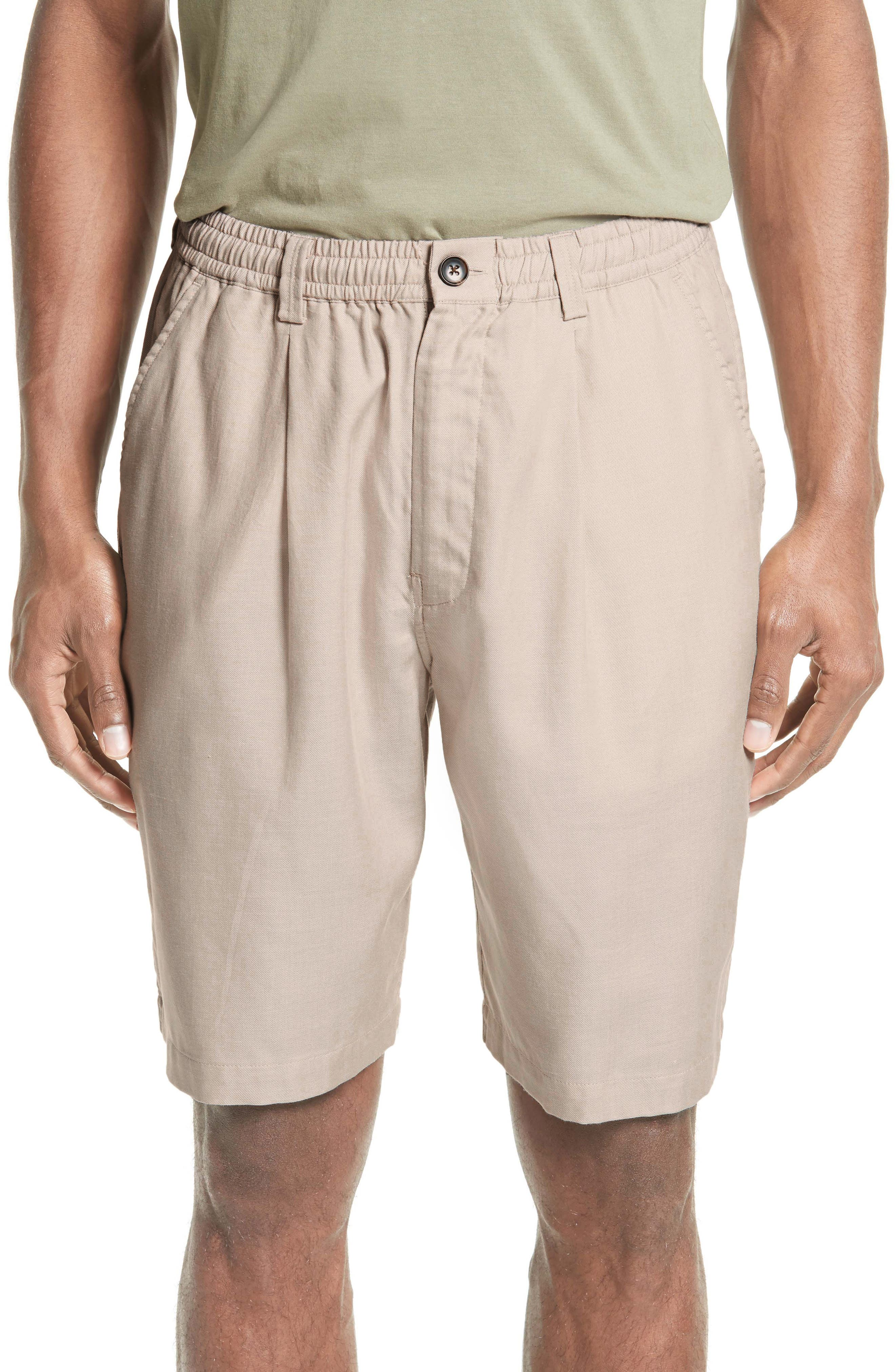 Keigo Pleat Front Shorts,                         Main,                         color, Dune