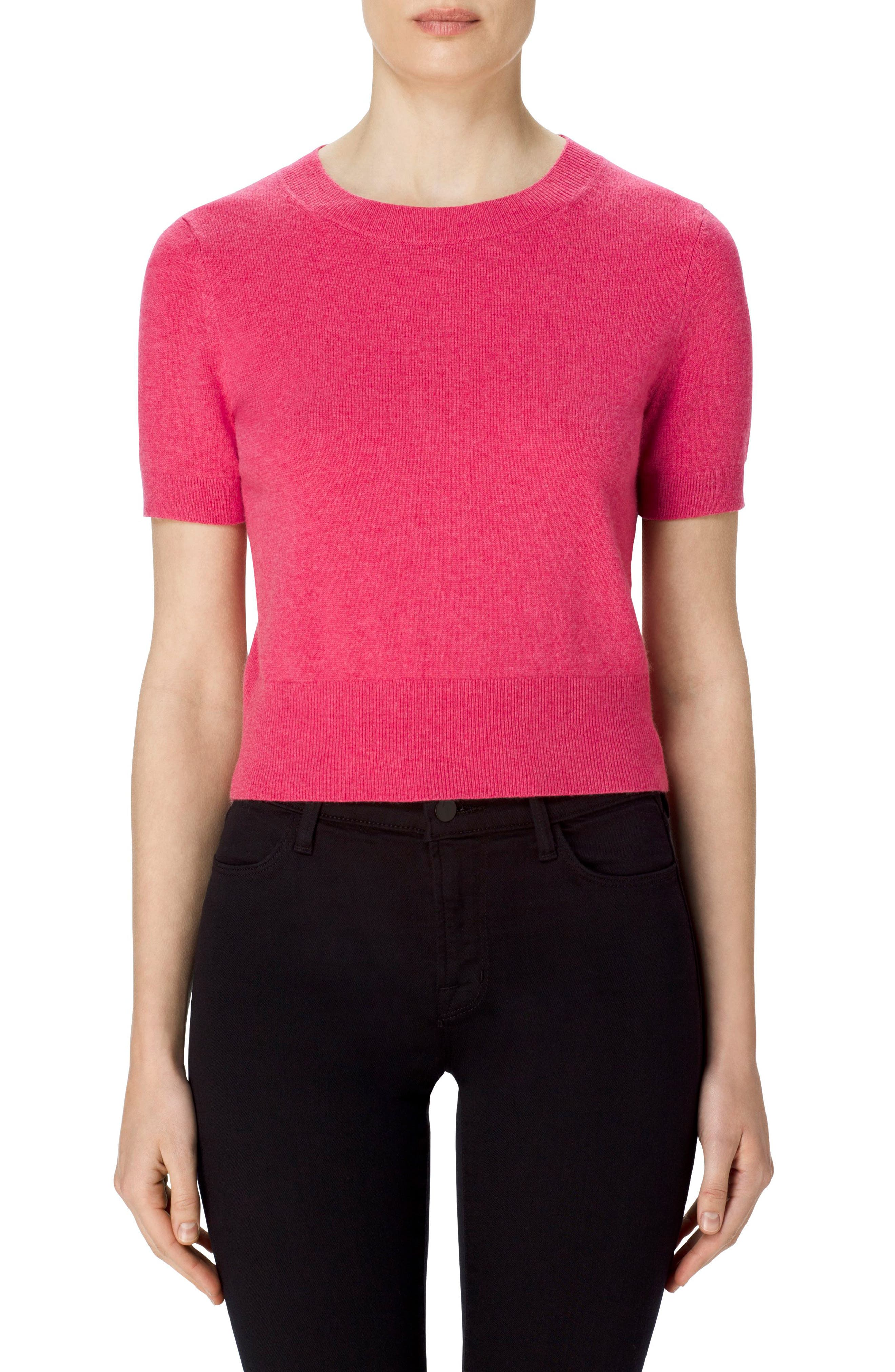 Briony Cashmere Sweater,                         Main,                         color, Roseate