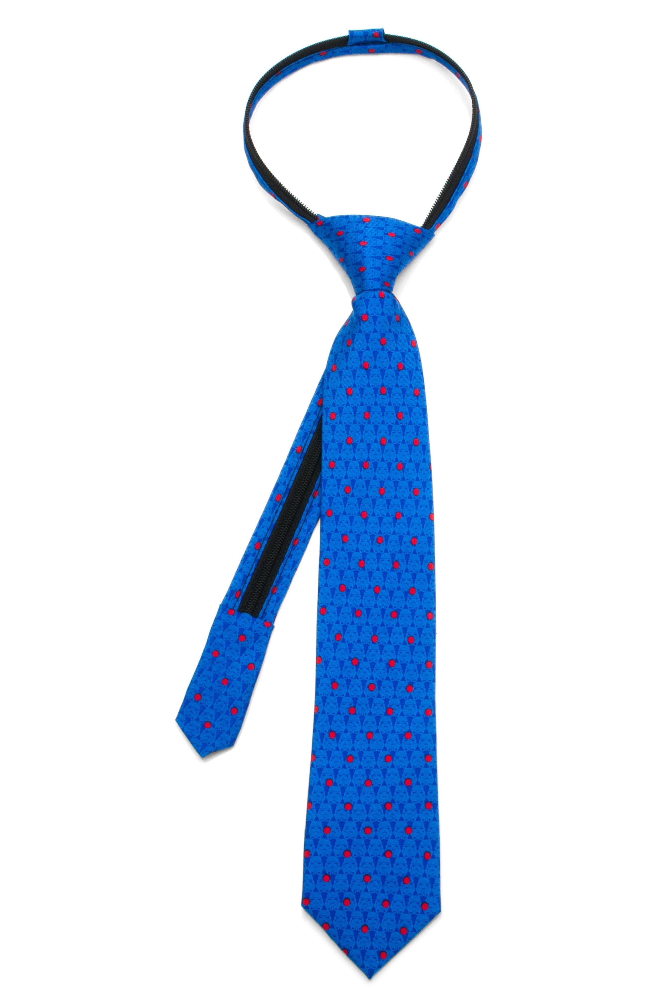 Main Image - Cufflinks, Inc. Star Wars - Stormtrooper Zip Silk Tie (Boys)