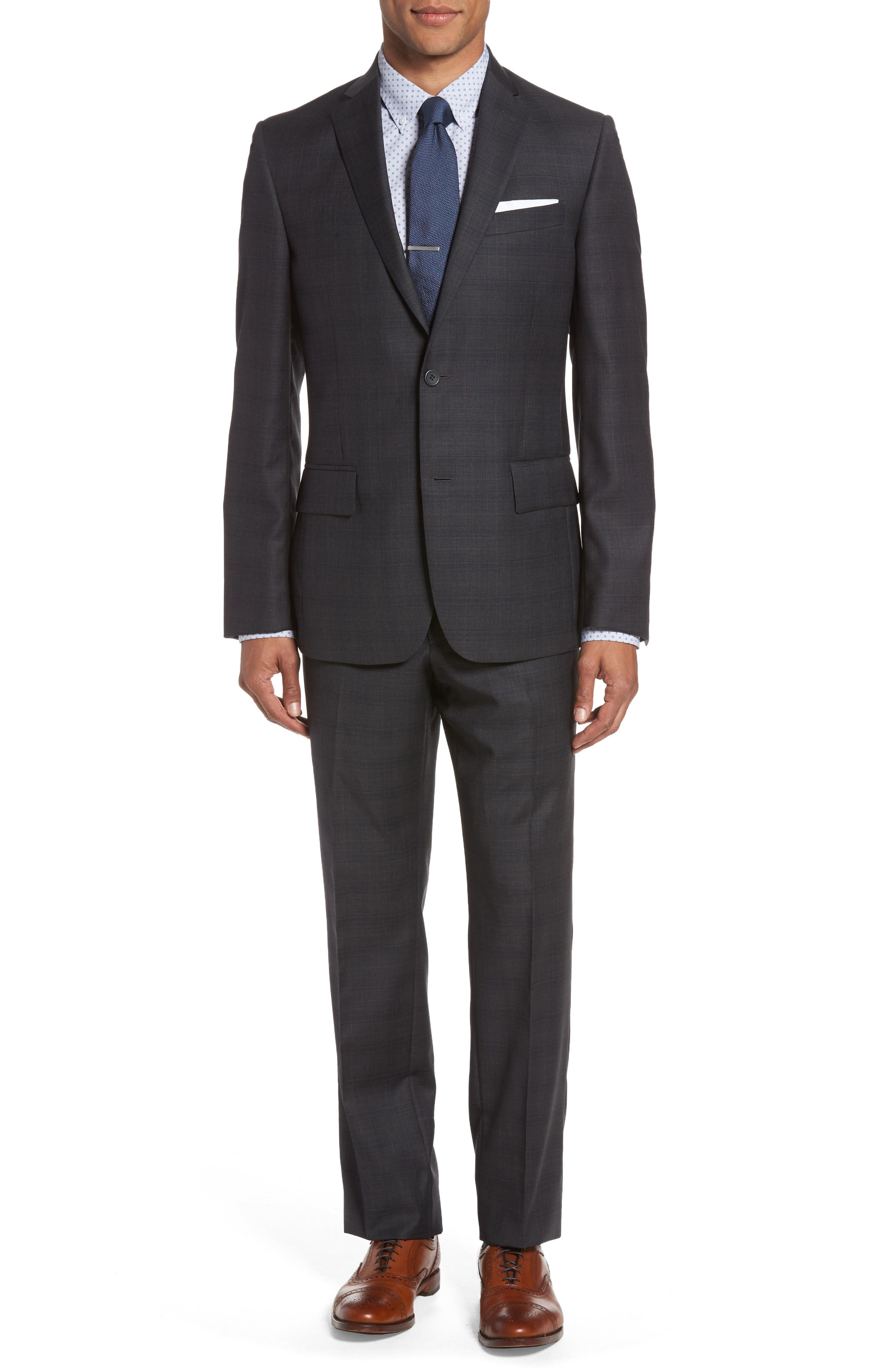 Nordstrom Men's Shop Classic Fit Plaid Wool Suit