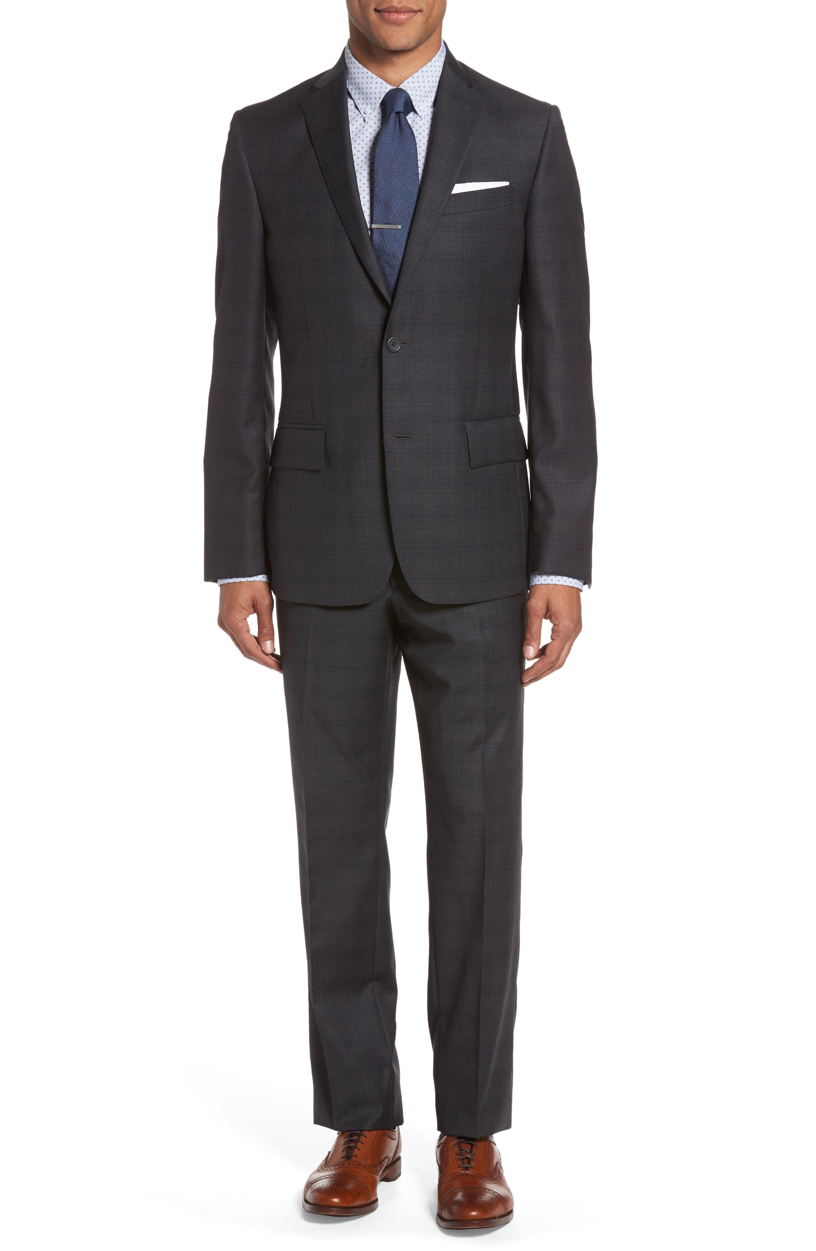 Nordstrom Men's Shop Classic Fit Plaid Wool Suit