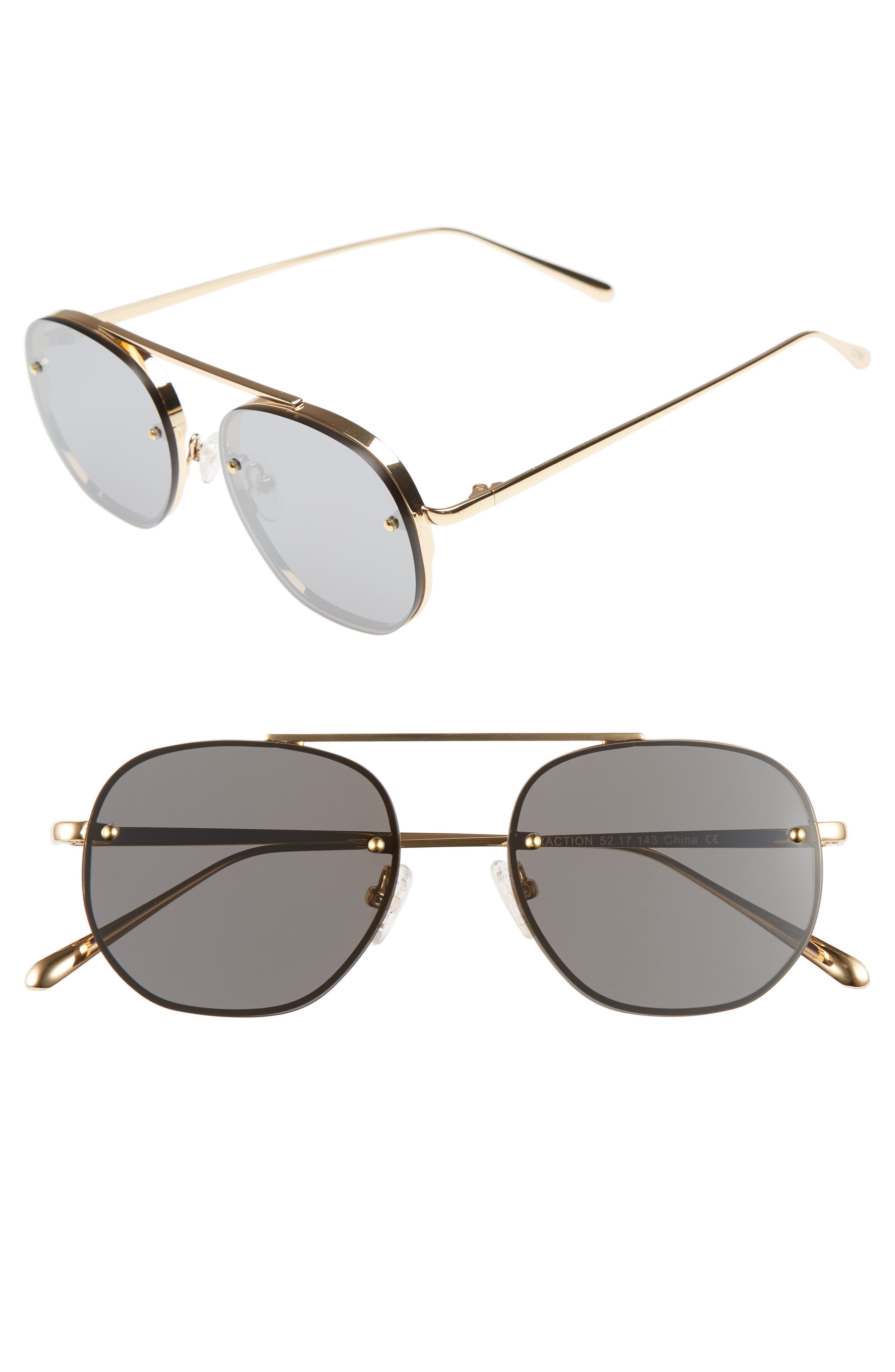 Main Image - Bonnie Clyde Traction 52mm Aviator Sunglasses