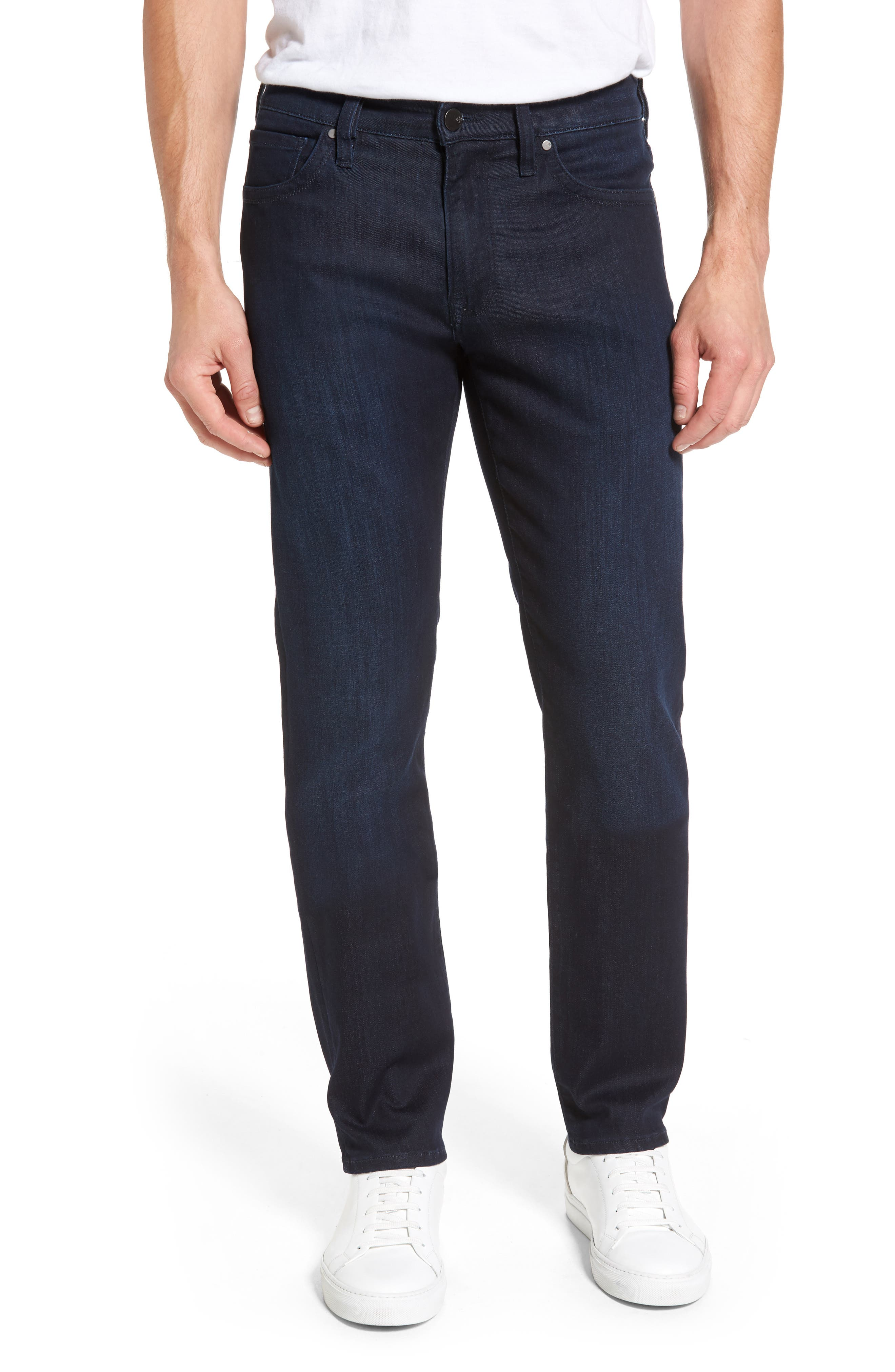 Courage Straight Leg Jeans,                         Main,                         color, Dark Rome