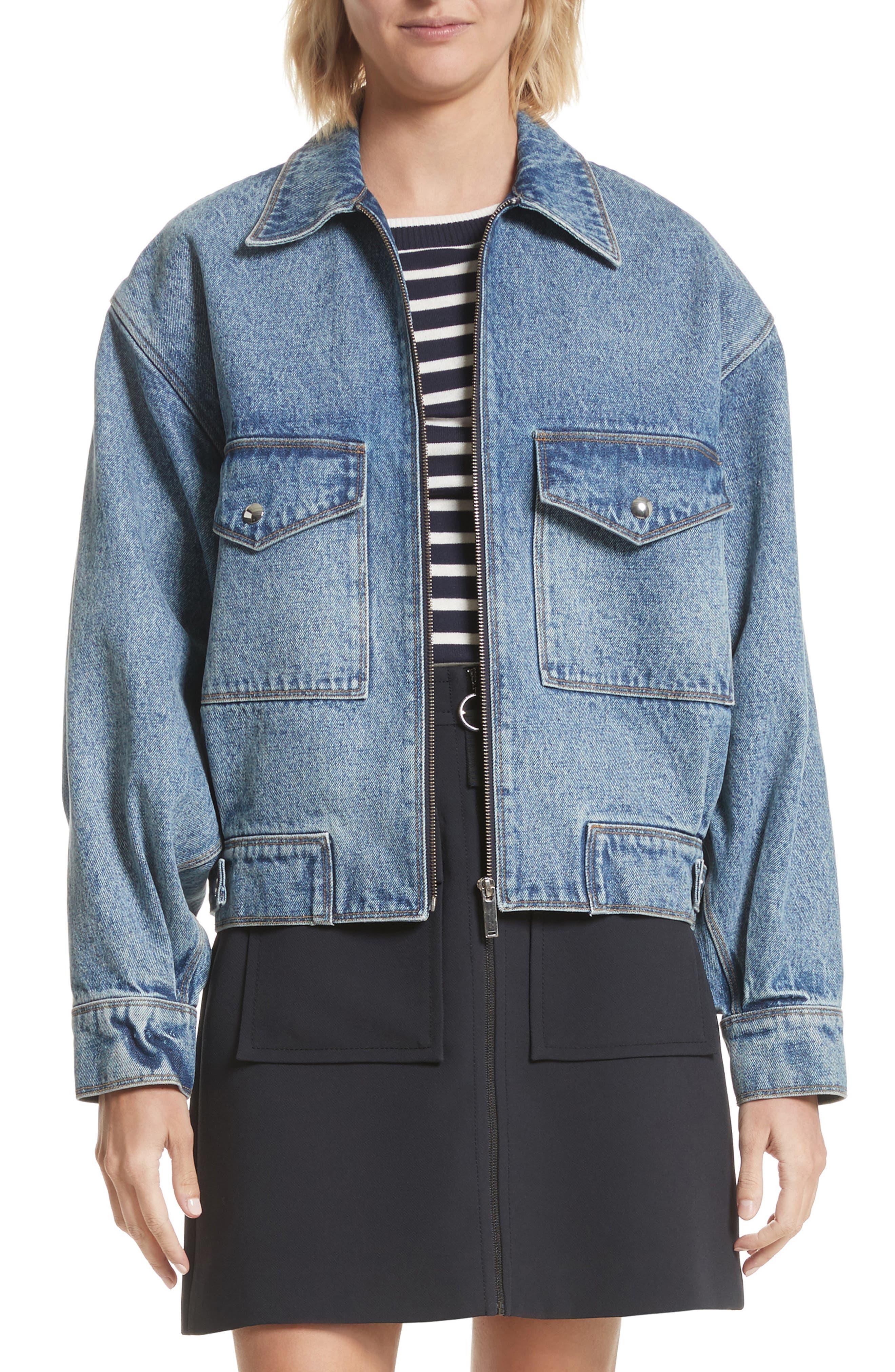Denim Jacket,                         Main,                         color, Light Indigo