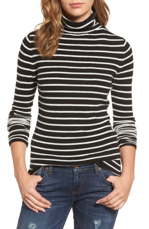 Halogen® Funnel Neck Cashmere Sweater (Regular & Petite) | Nordstrom