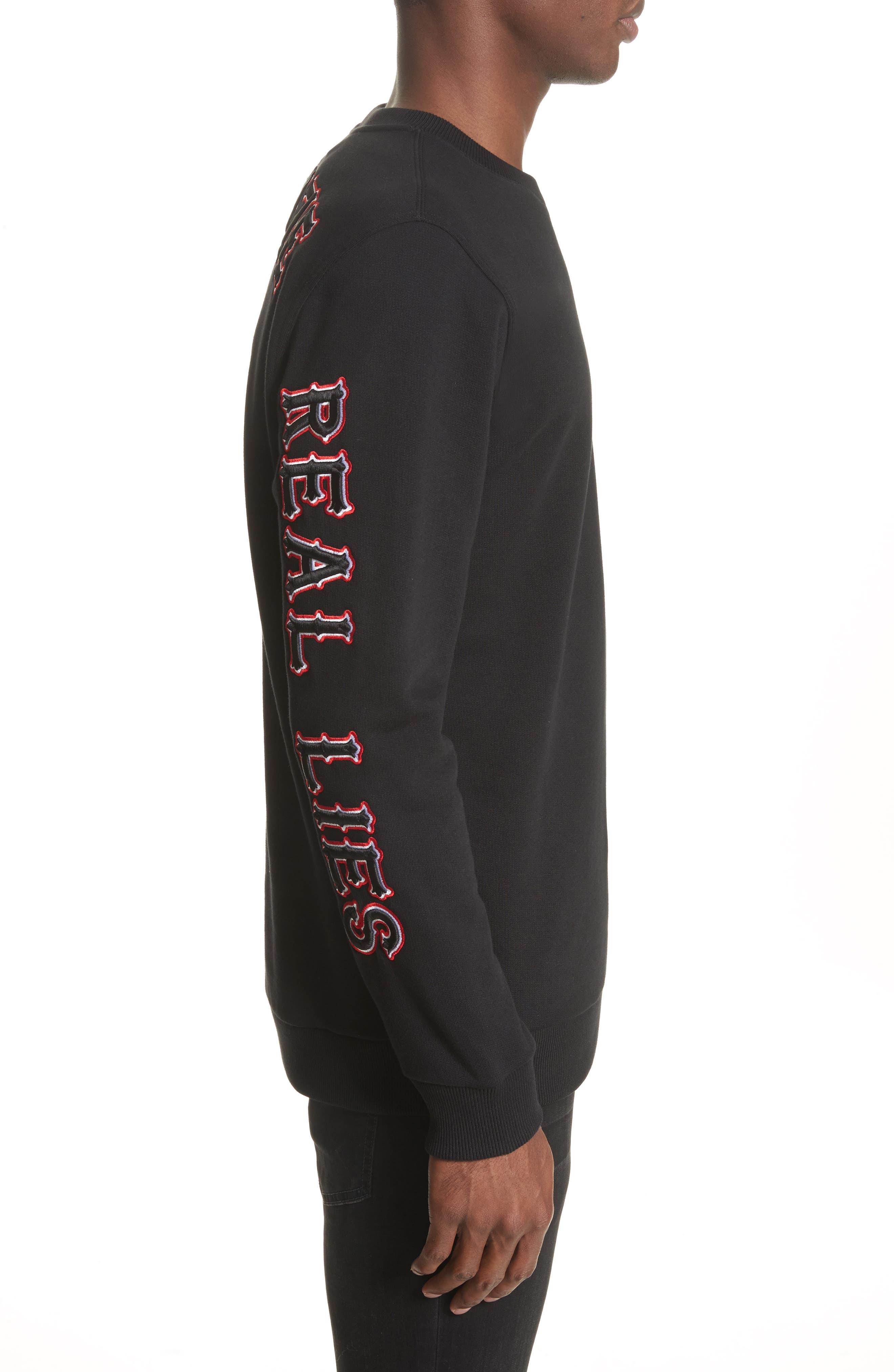 Cuban Fit Realize Sweatshirt,                             Alternate thumbnail 3, color,                             Black