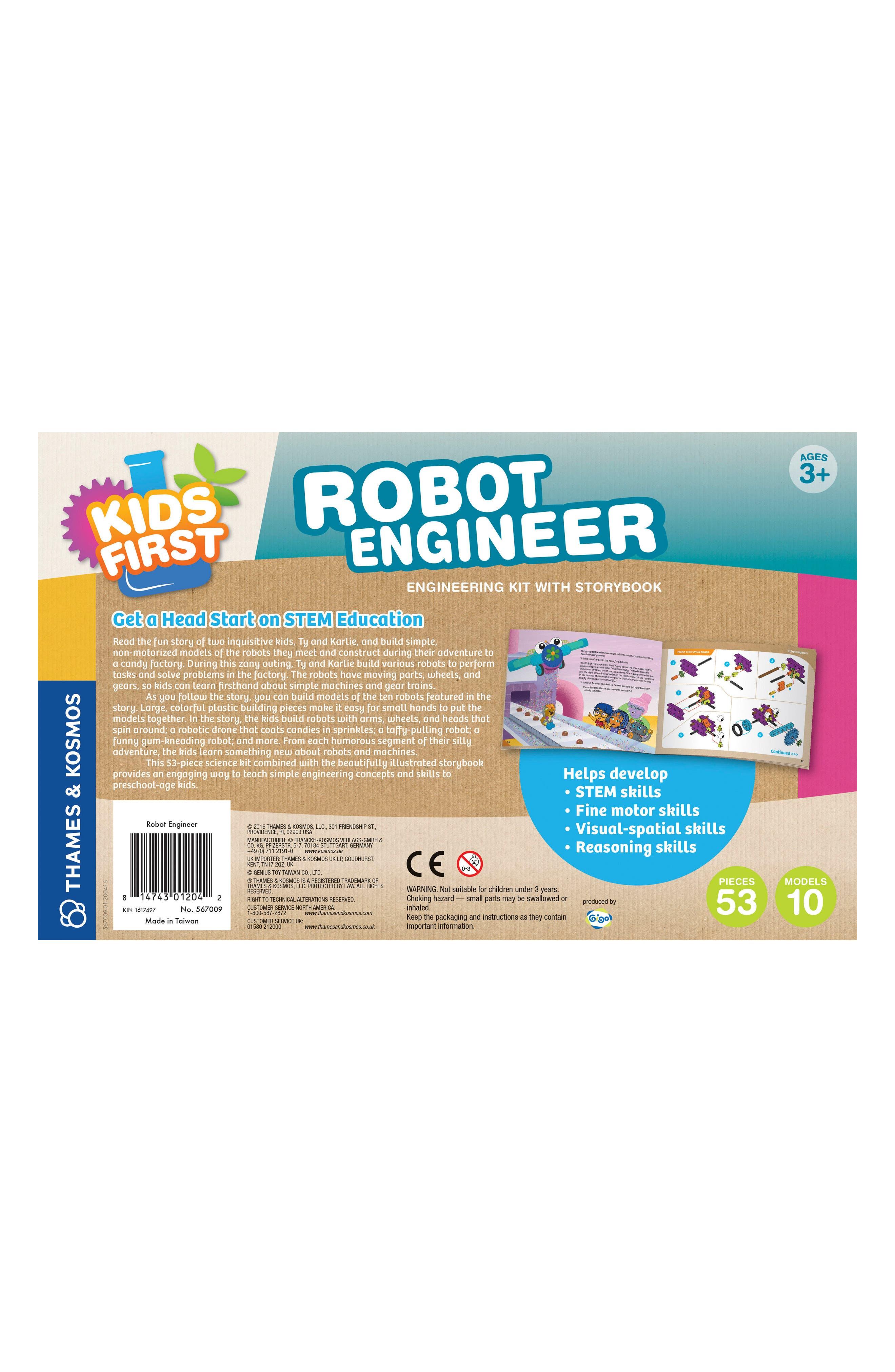 Robot Engineer Building Set & Storybook,                             Alternate thumbnail 11, color,                             Blue