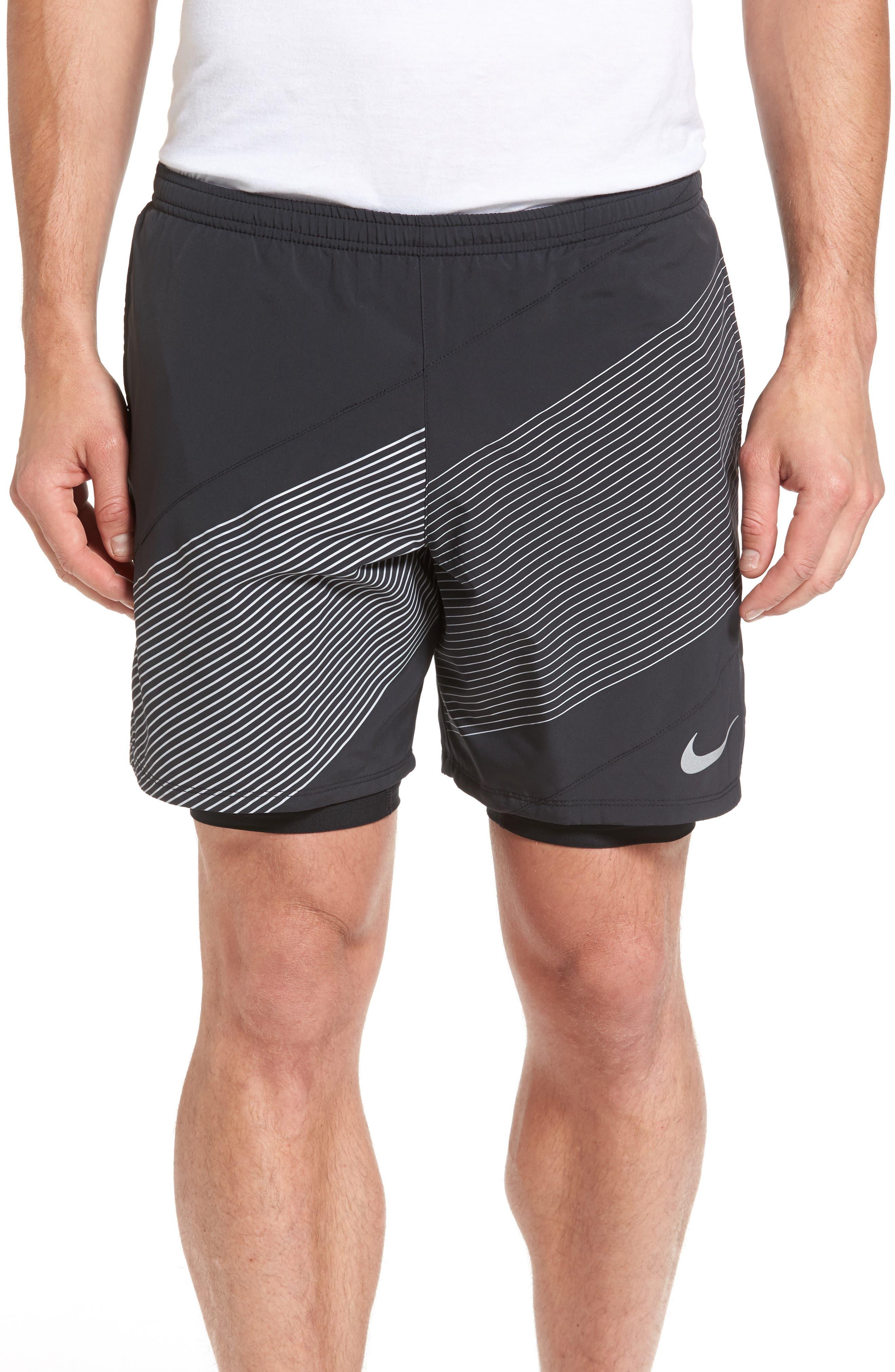 Flex Running Shorts,                         Main,                         color, Black