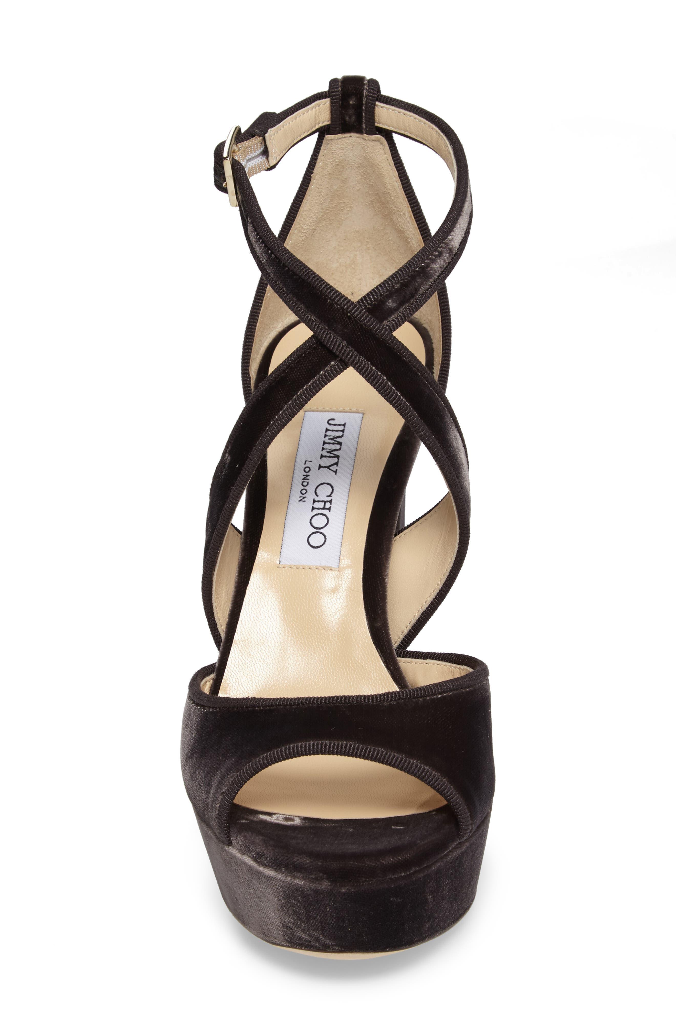 April Platform Sandal,                             Alternate thumbnail 4, color,                             Dark Mink Velvet