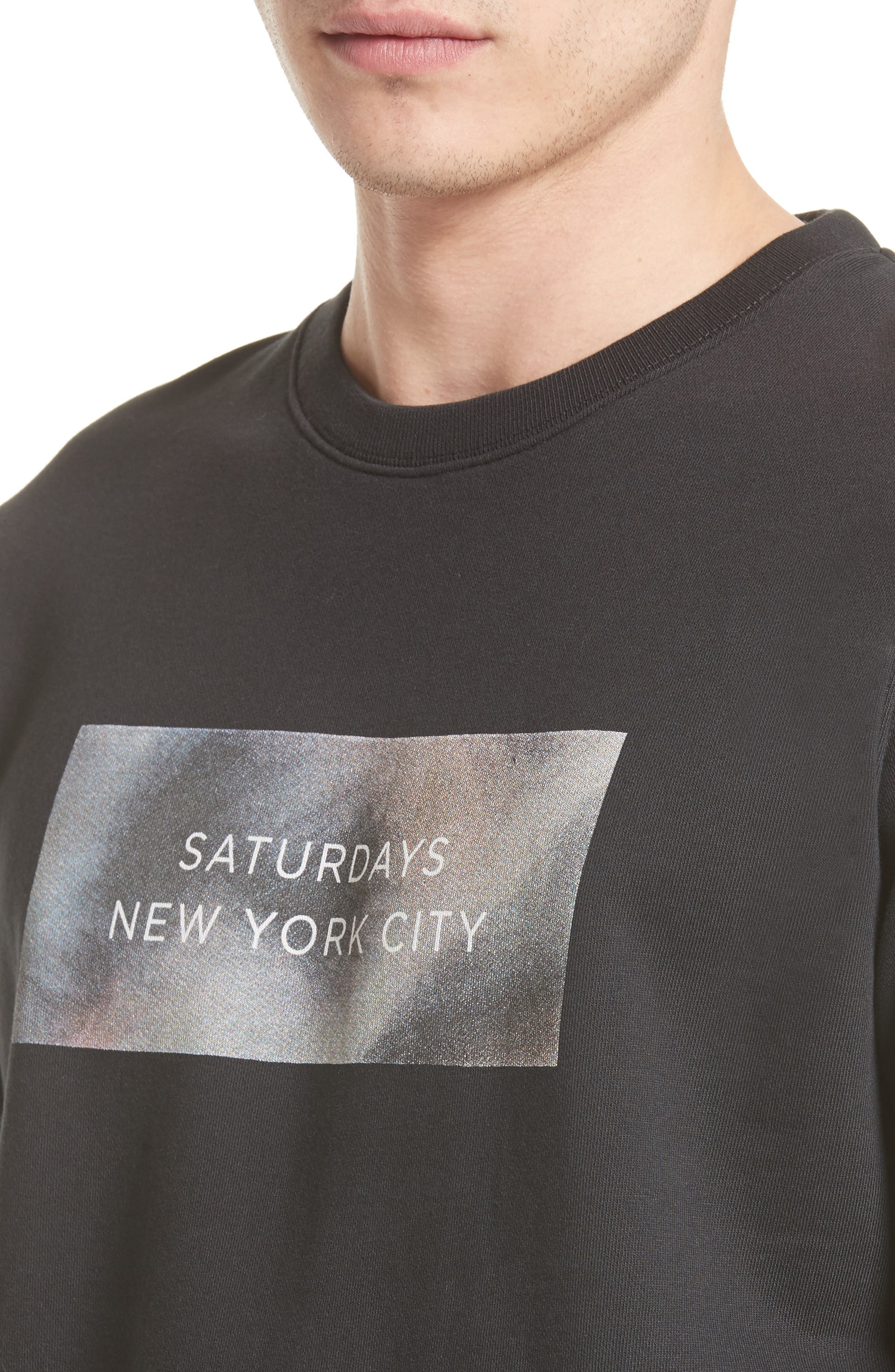 Alternate Image 4  - Saturdays NYC Bowery Logo Graphic Sweatshirt