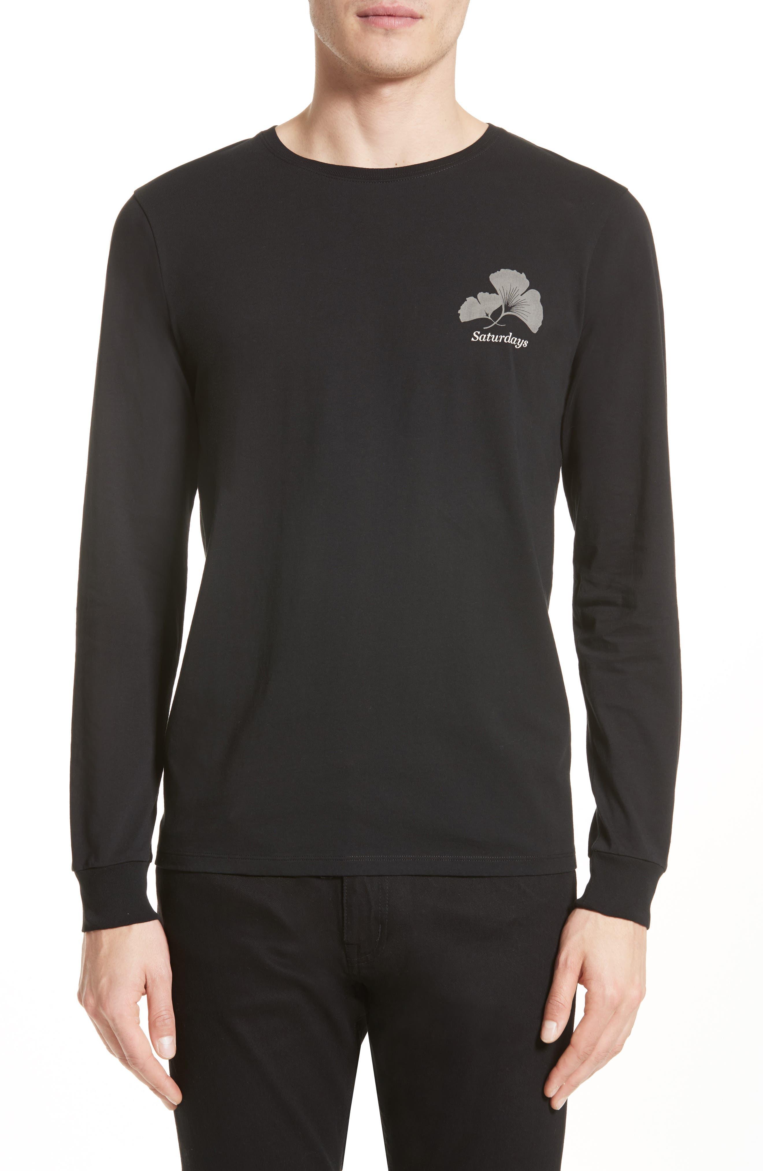 Ginkgo Graphic T-Shirt,                             Main thumbnail 1, color,                             Black