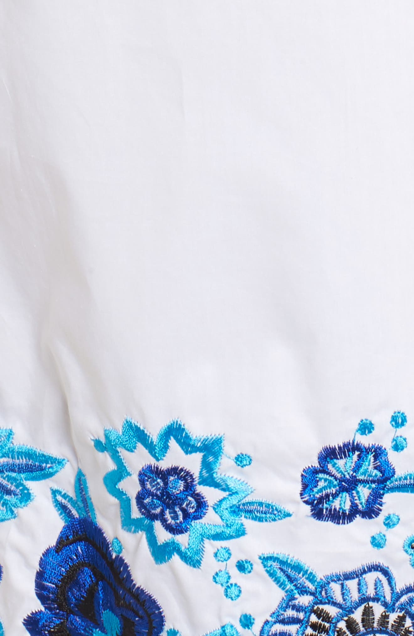 Jace Embroidered Off the Shoulder Shift Dress,                             Alternate thumbnail 5, color,                             White