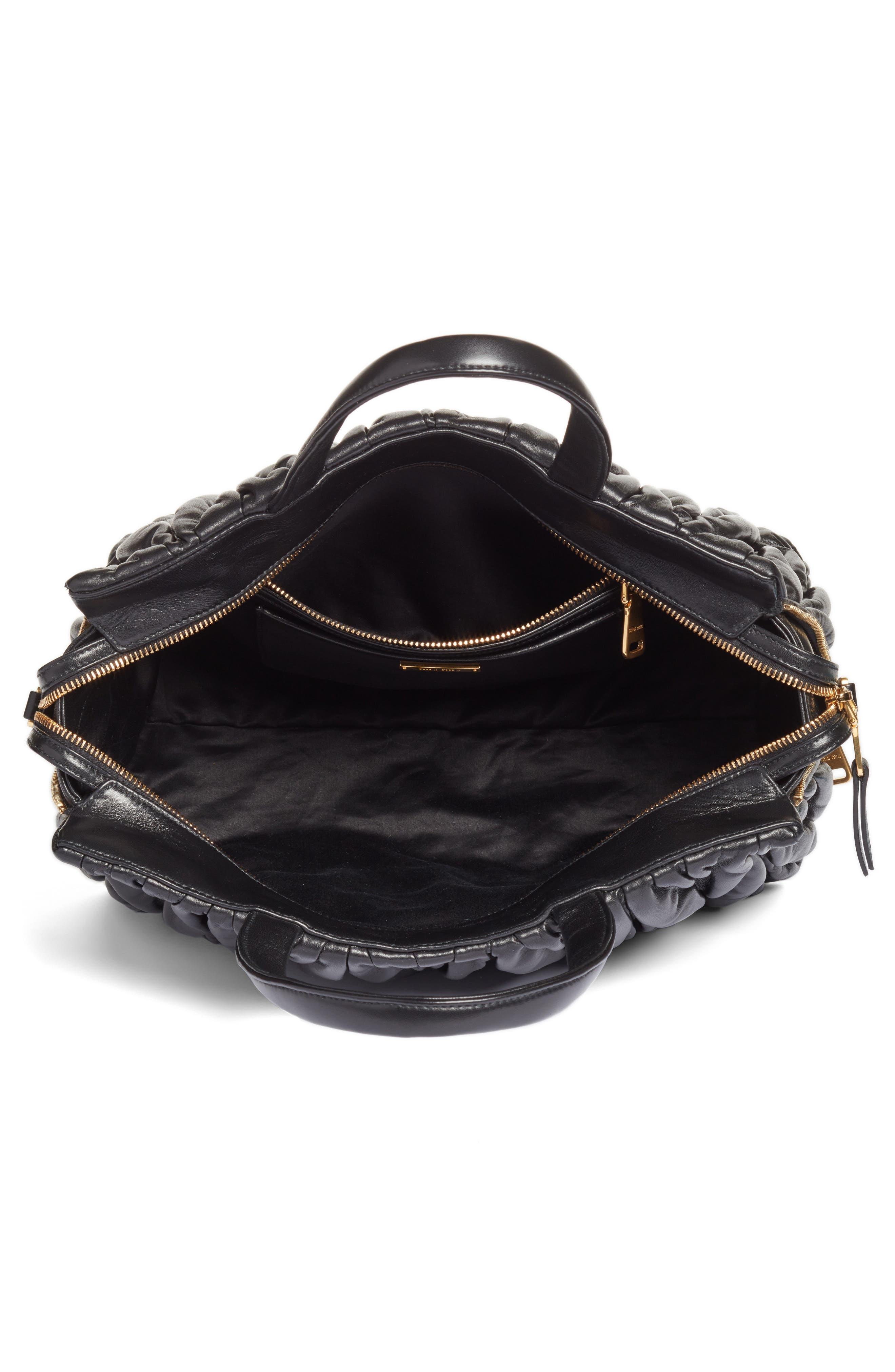 Alternate Image 3  - Miu Miu Matelassé Leather Top Handle Satchel
