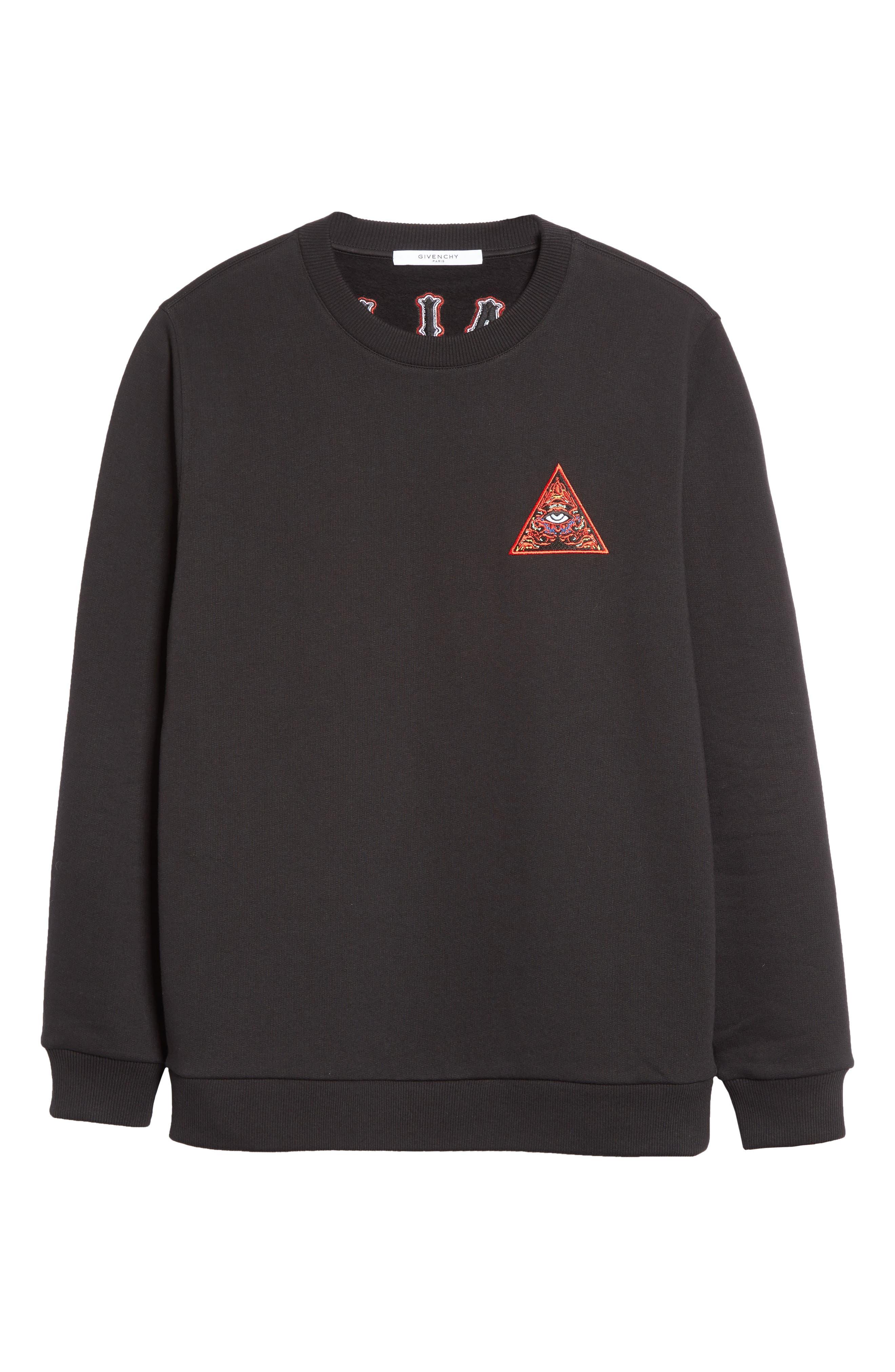 Cuban Fit Realize Sweatshirt,                             Alternate thumbnail 6, color,                             Black