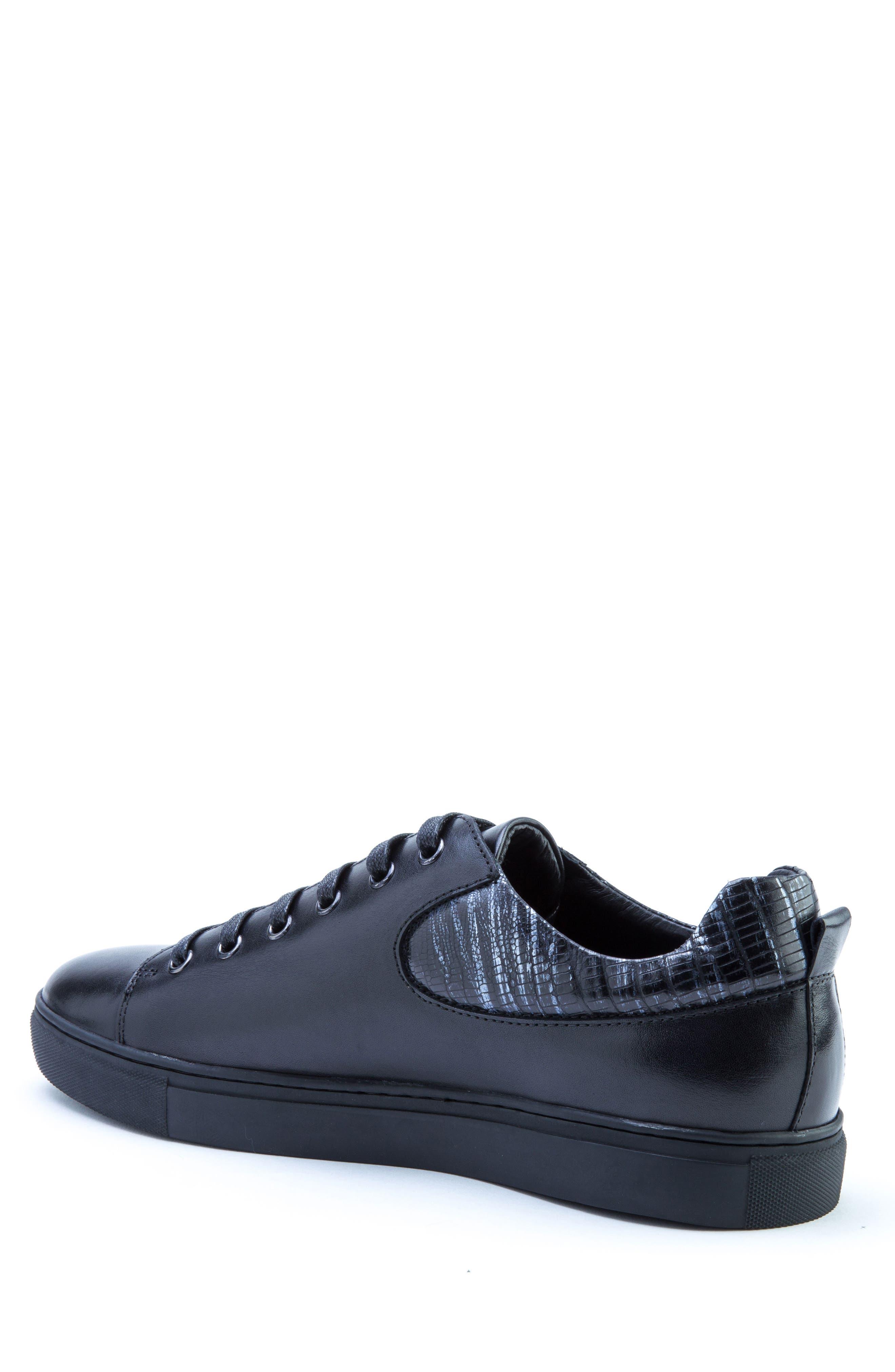 Robinson Sneaker,                             Alternate thumbnail 2, color,                             Black Leather