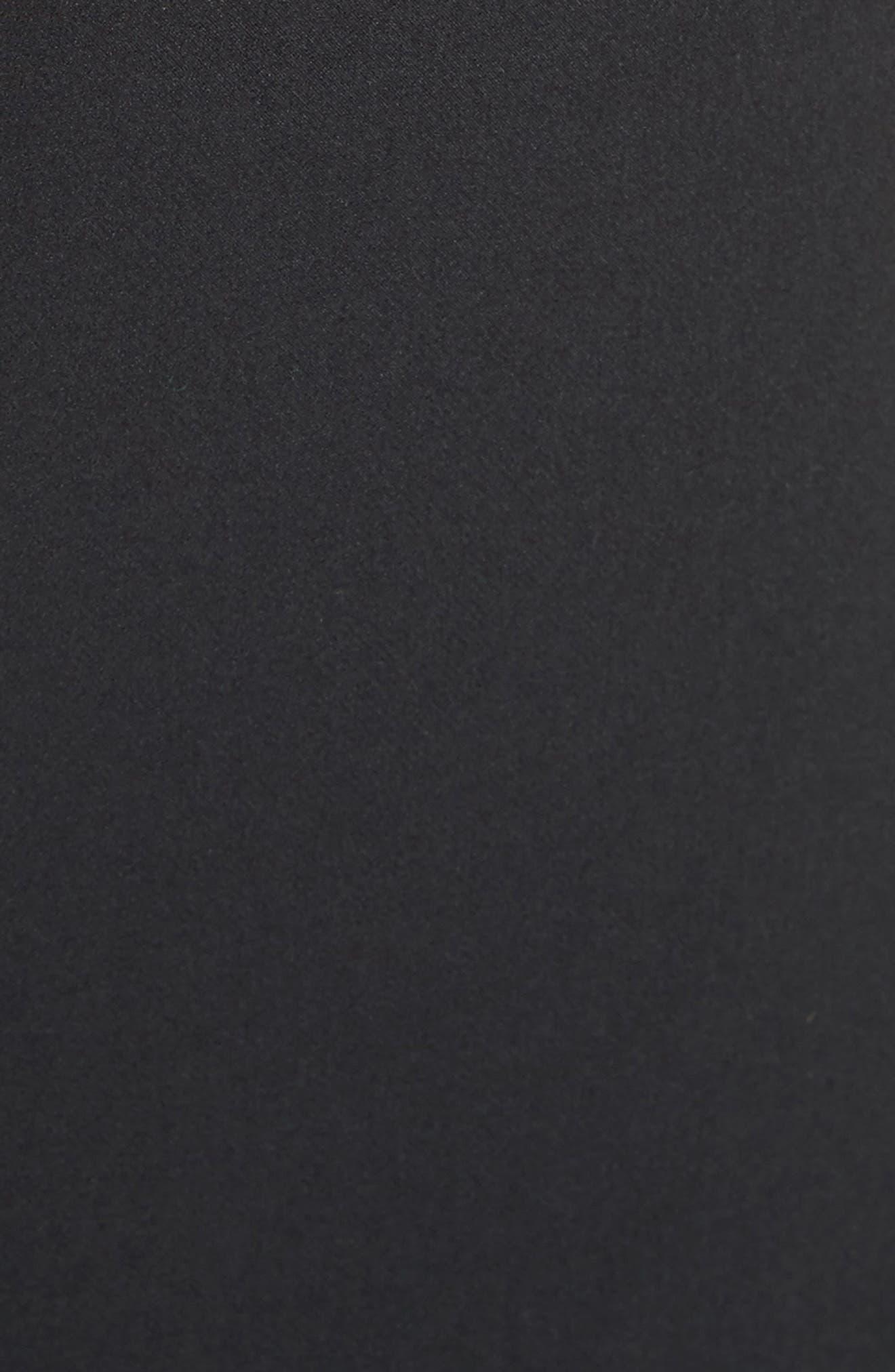 Brit Off the Shoulder Stretch Cady Sheath Dress,                             Alternate thumbnail 5, color,                             Black