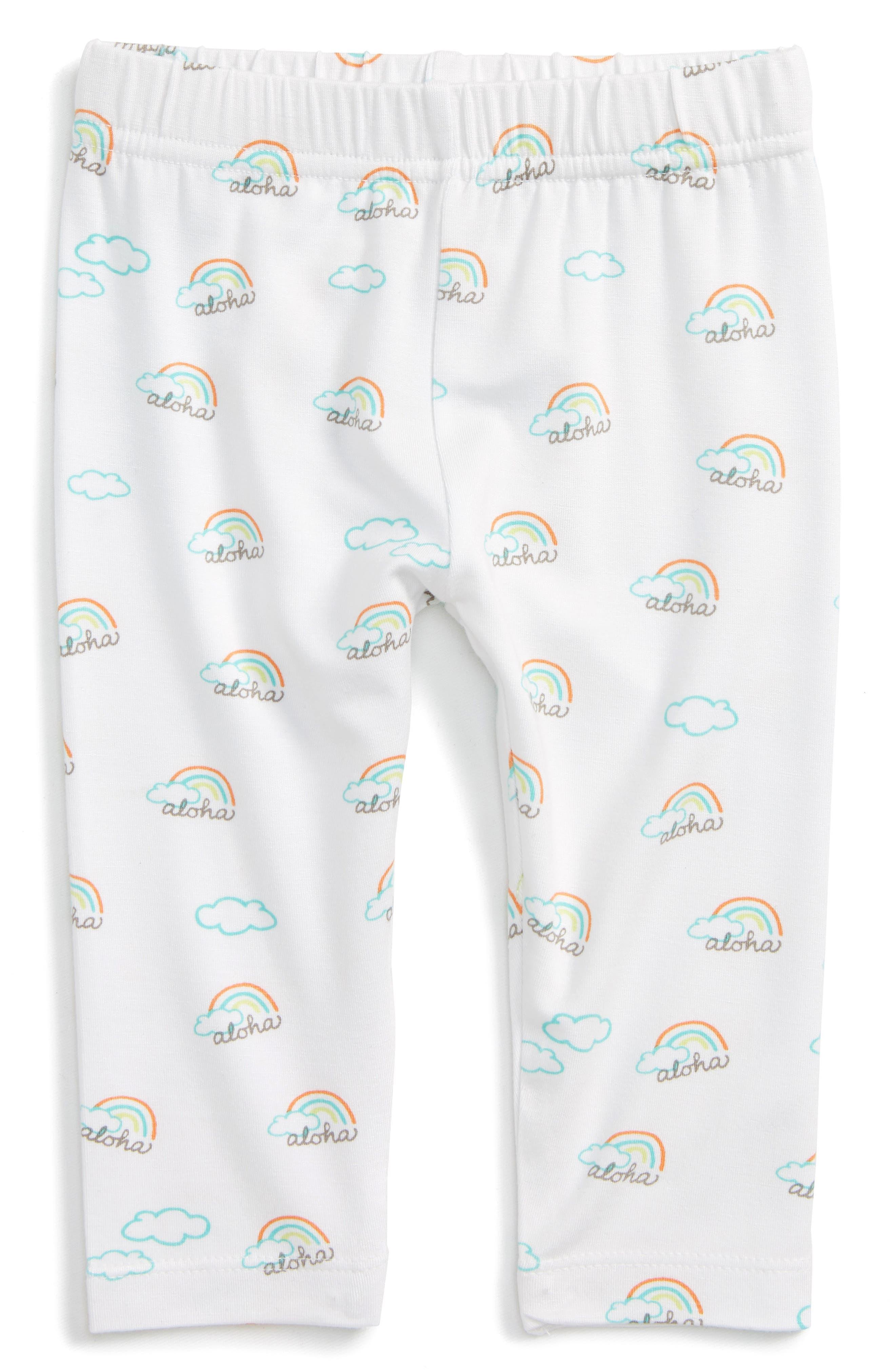 Aloha Leggings,                         Main,                         color, White Print