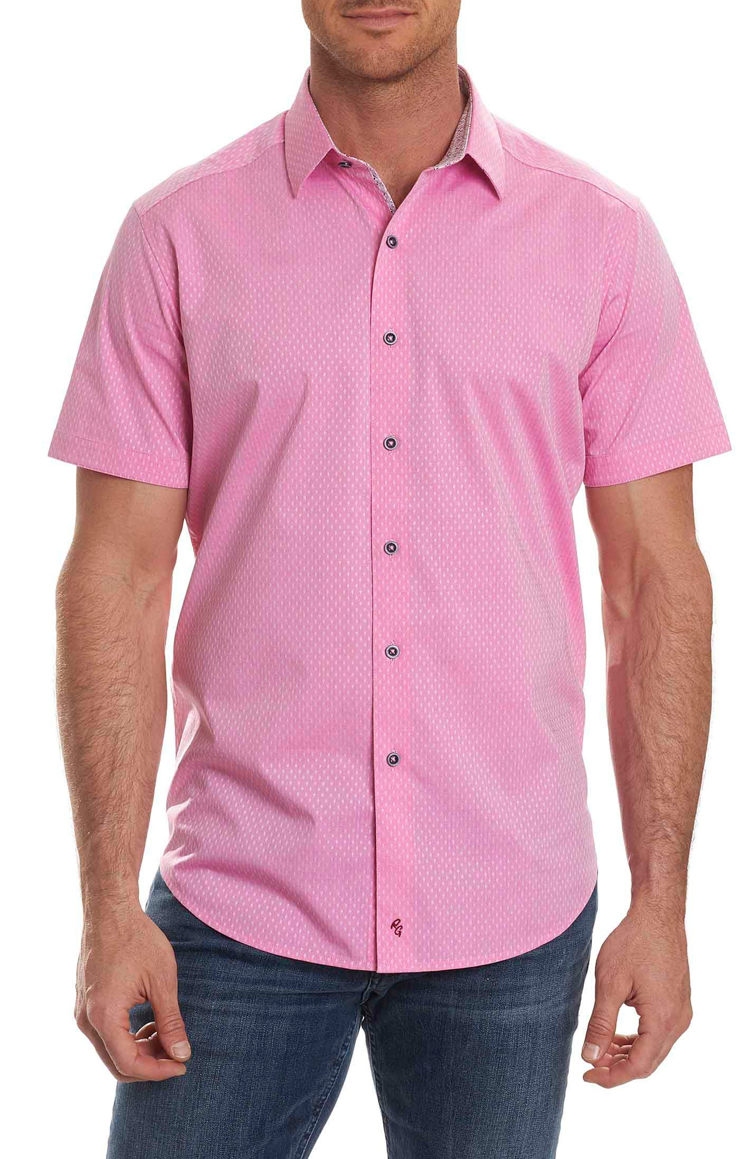 Main Image - Robert Graham Clemens Short Sleeve Sport Shirt
