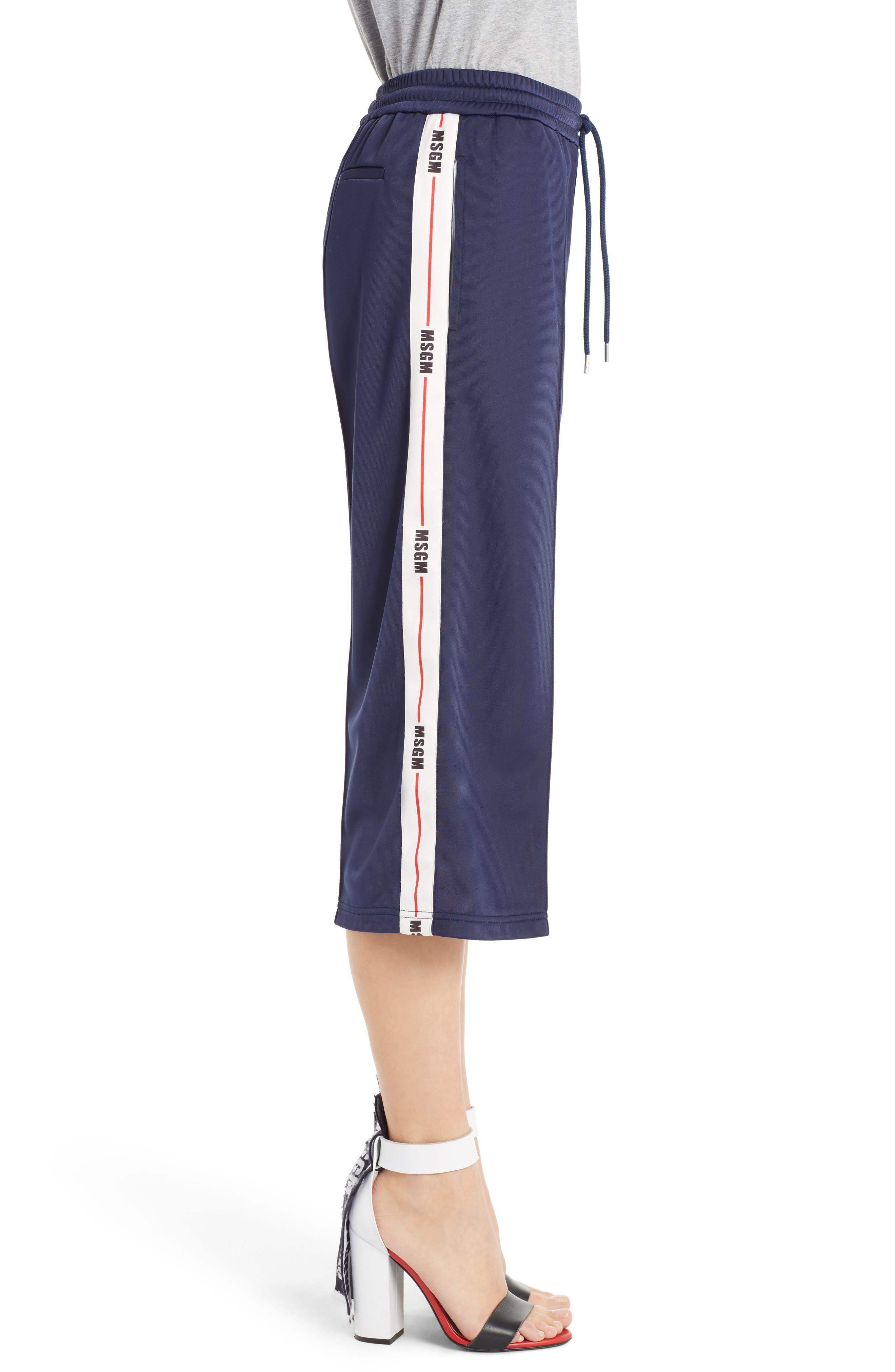 Alternate Image 4  - MSGM Crop Wide Leg Track Pants