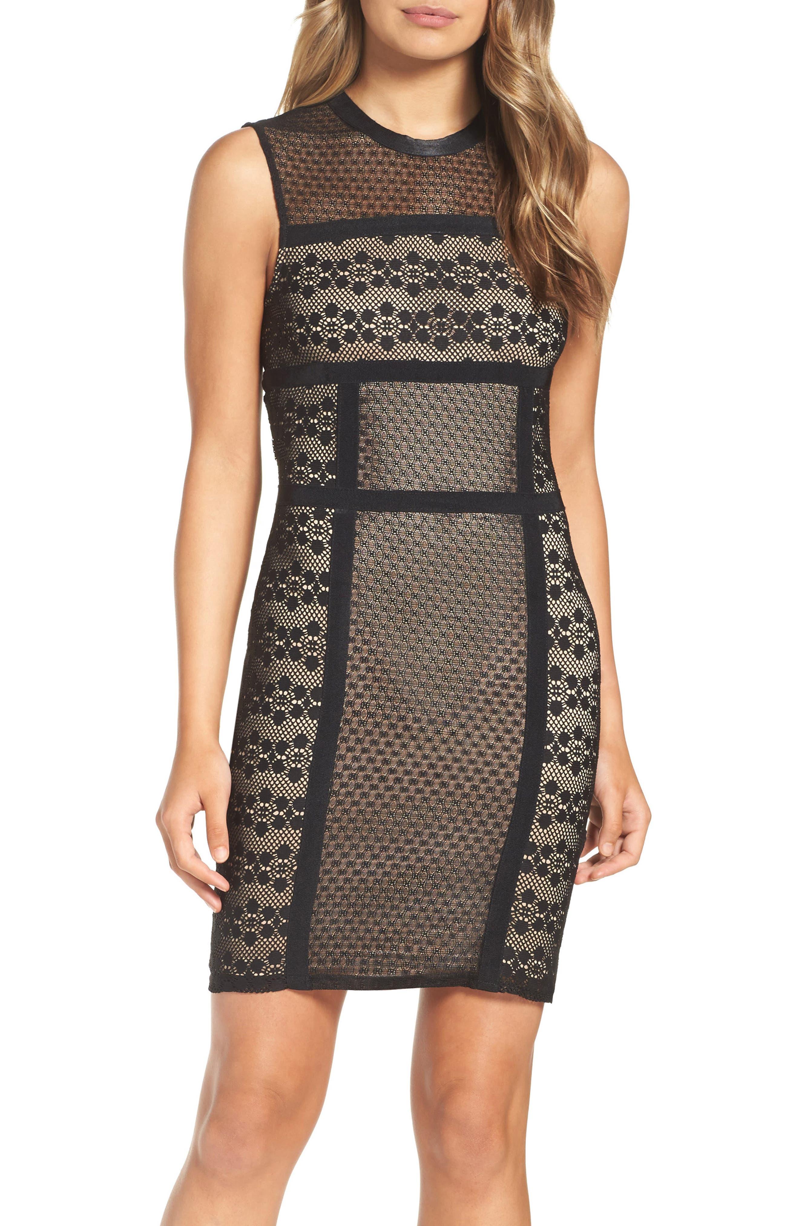 Hola Mamacita Body-Con Dress,                             Main thumbnail 1, color,                             Black