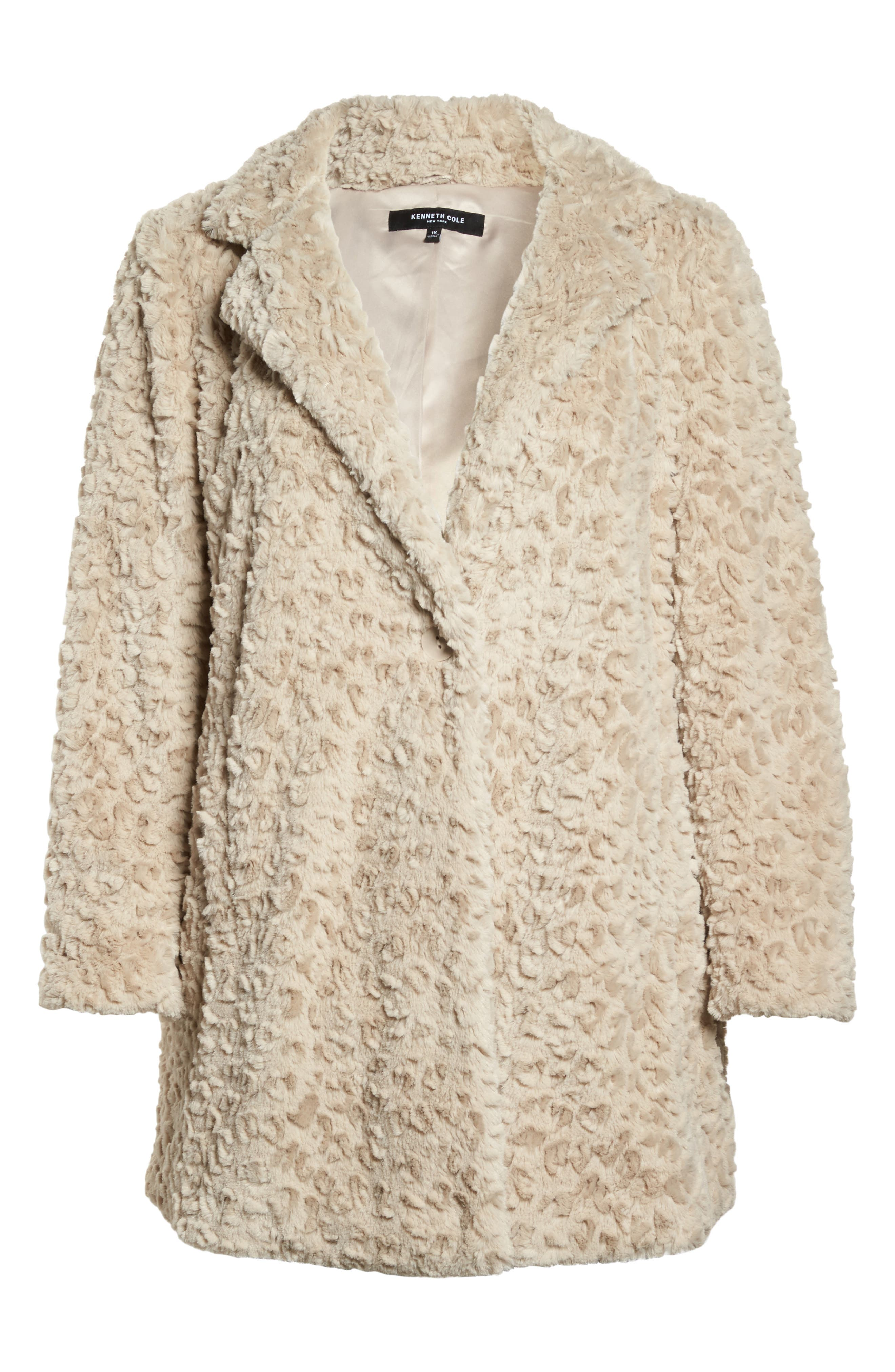 Alternate Image 6  - Kenneth Cole New York Faux Fur Jacket (Plus Size)