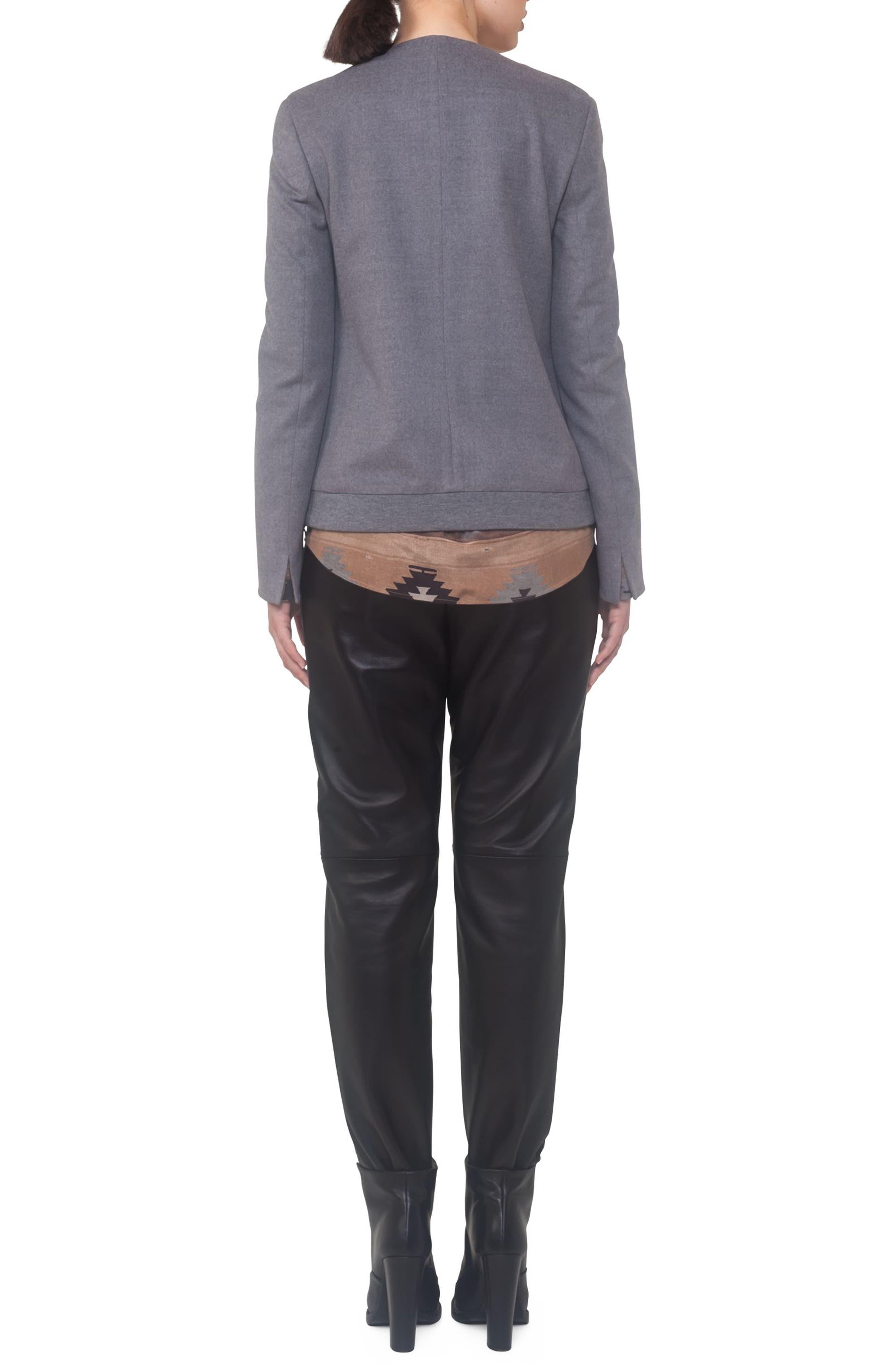 Alternate Image 2  - Akris punto Wool A-Line Jacket