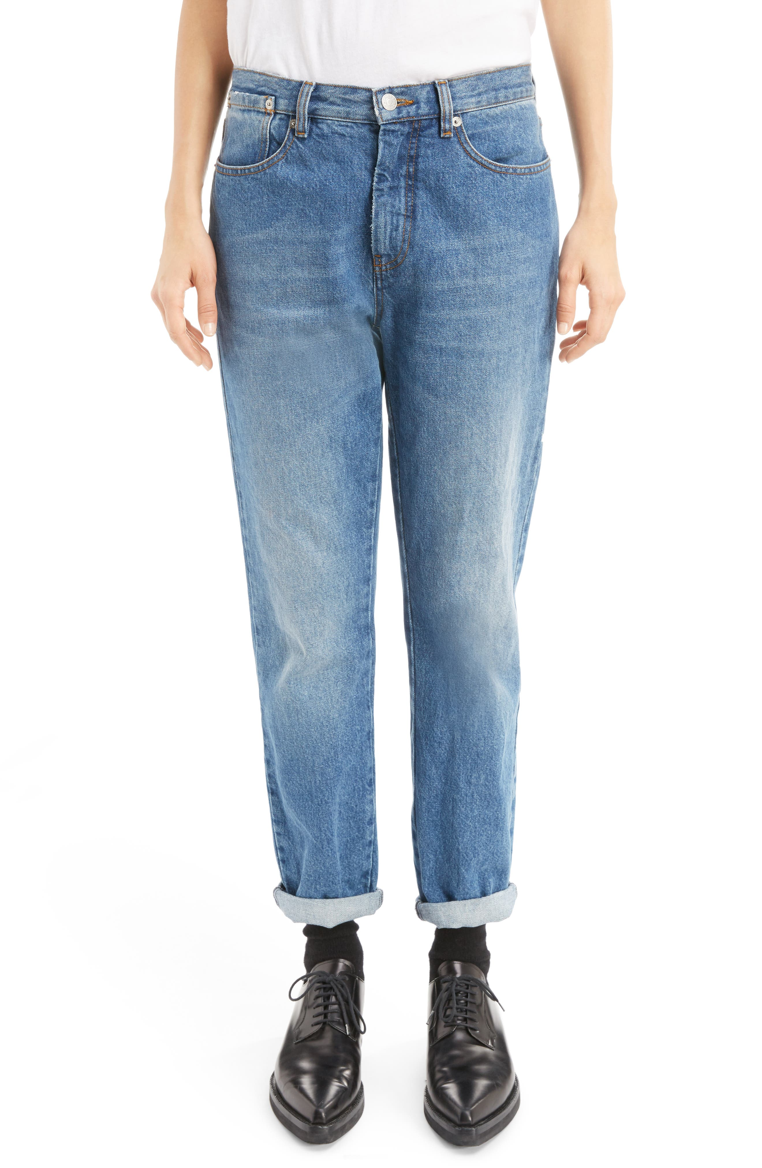 Alternate Image 1 Selected - Dries Van Noten Cuffed Straight Leg Jeans