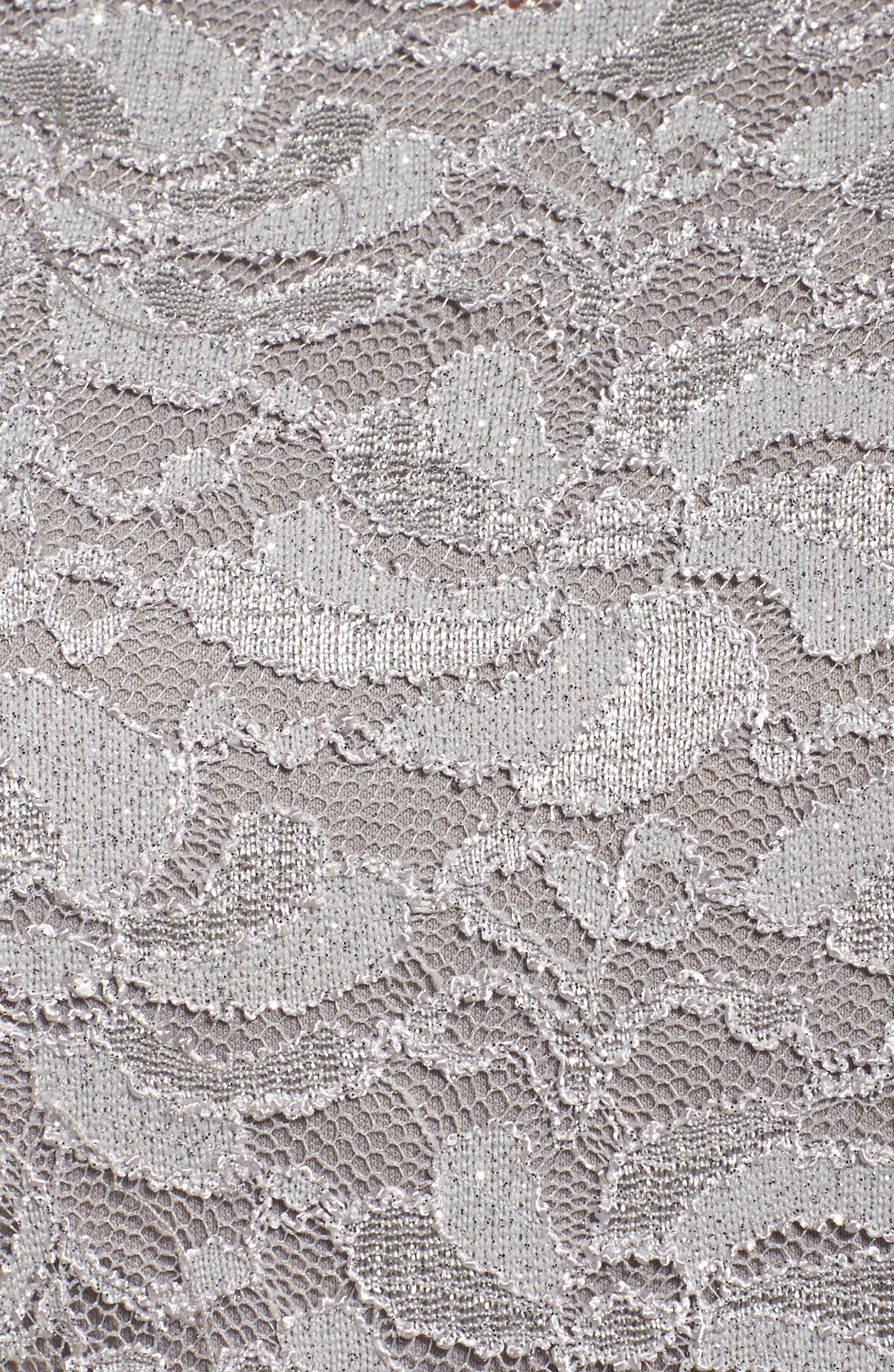 Alternate Image 5  - Alex Evenings Ruched Waist Lace Blouse (Plus Size)