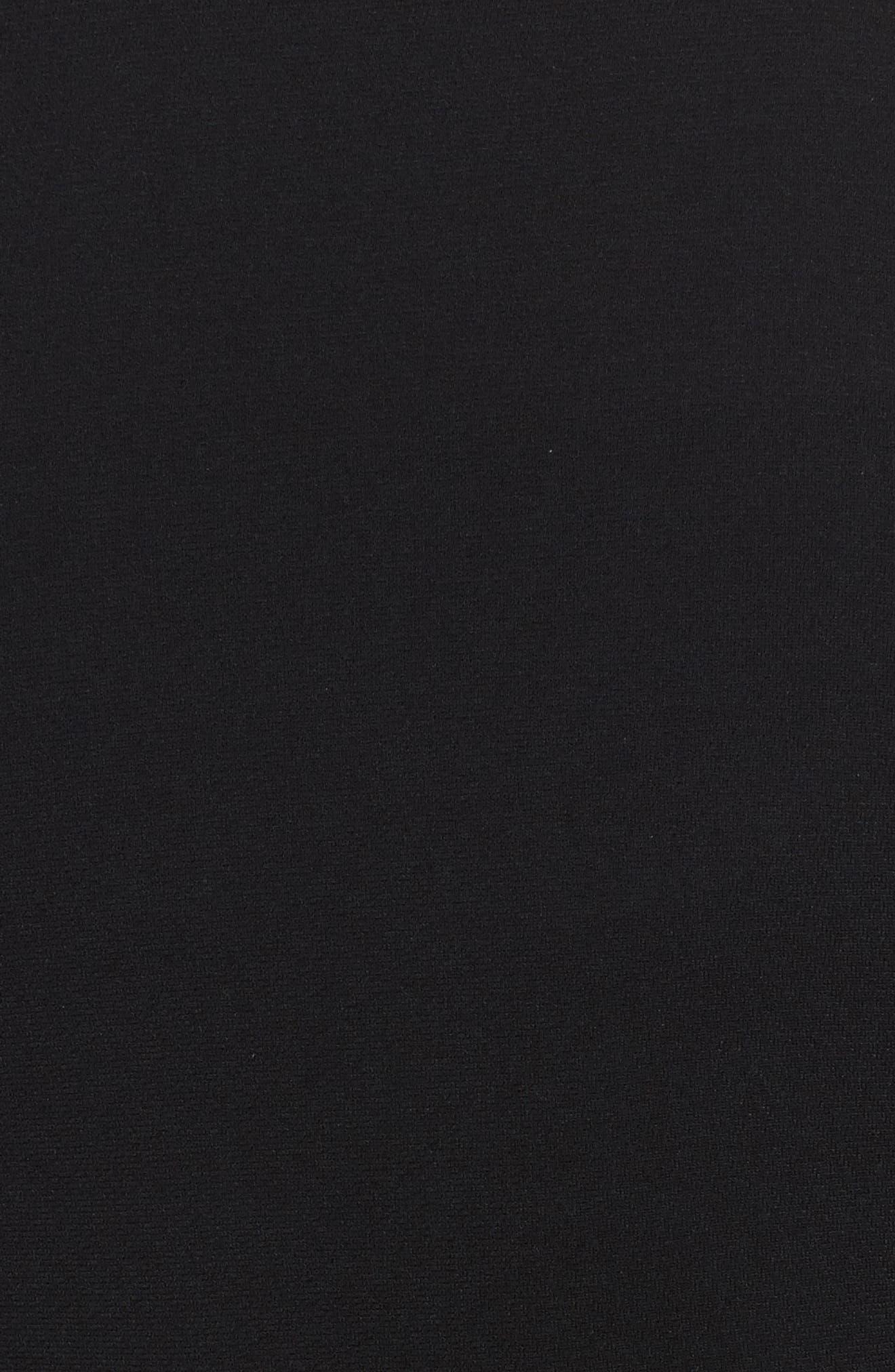 Ruffle Sleeve Blazer,                             Alternate thumbnail 5, color,                             Black