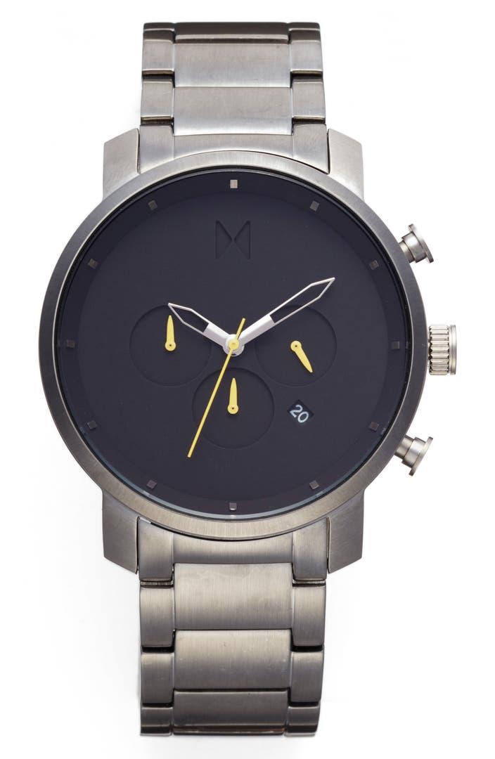 Mvmt chronograph bracelet watch 45mm nordstrom exclusive nordstrom for Watches nordstrom