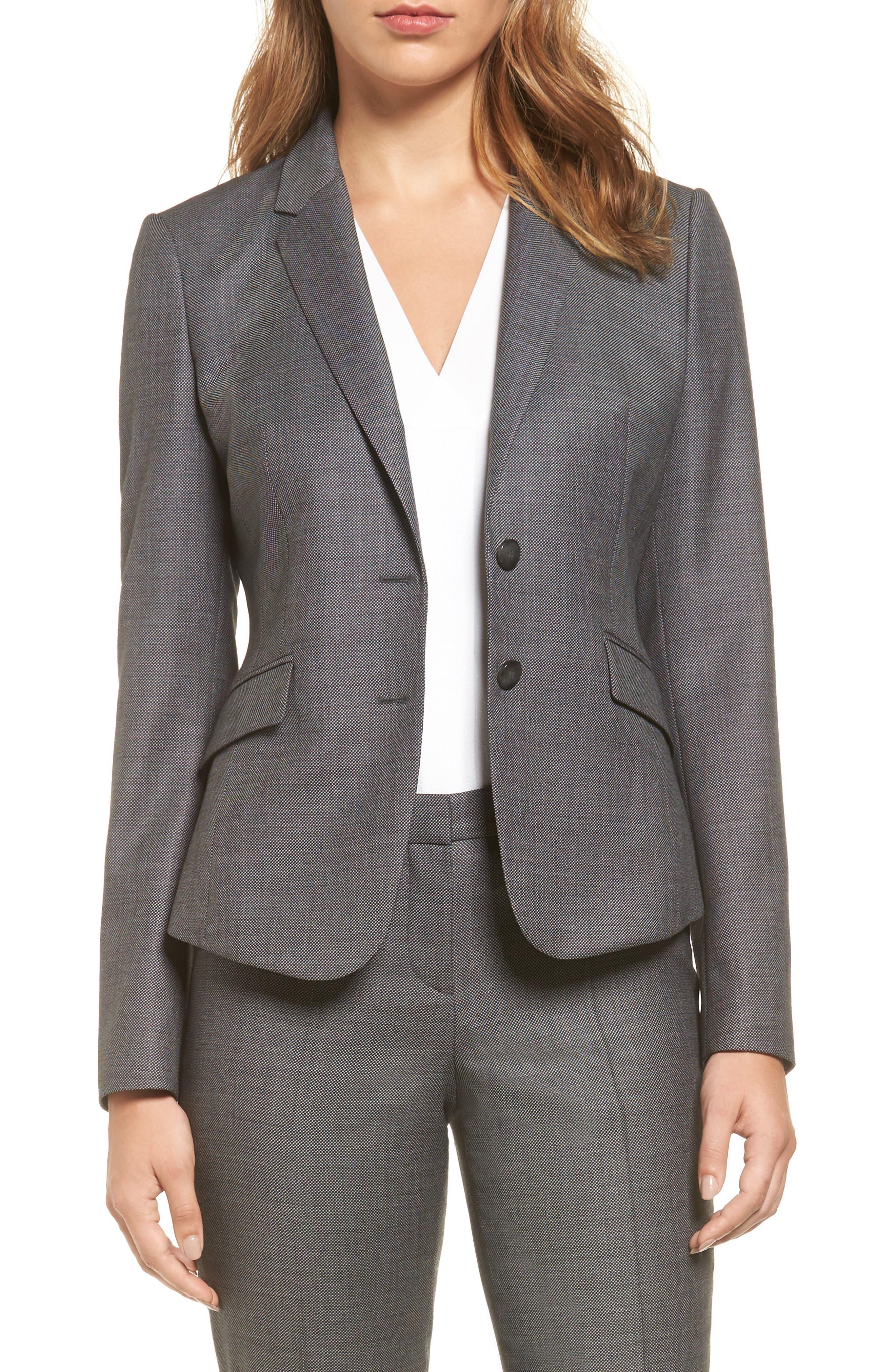 Main Image - BOSS Jalinera Wool Suit Jacket