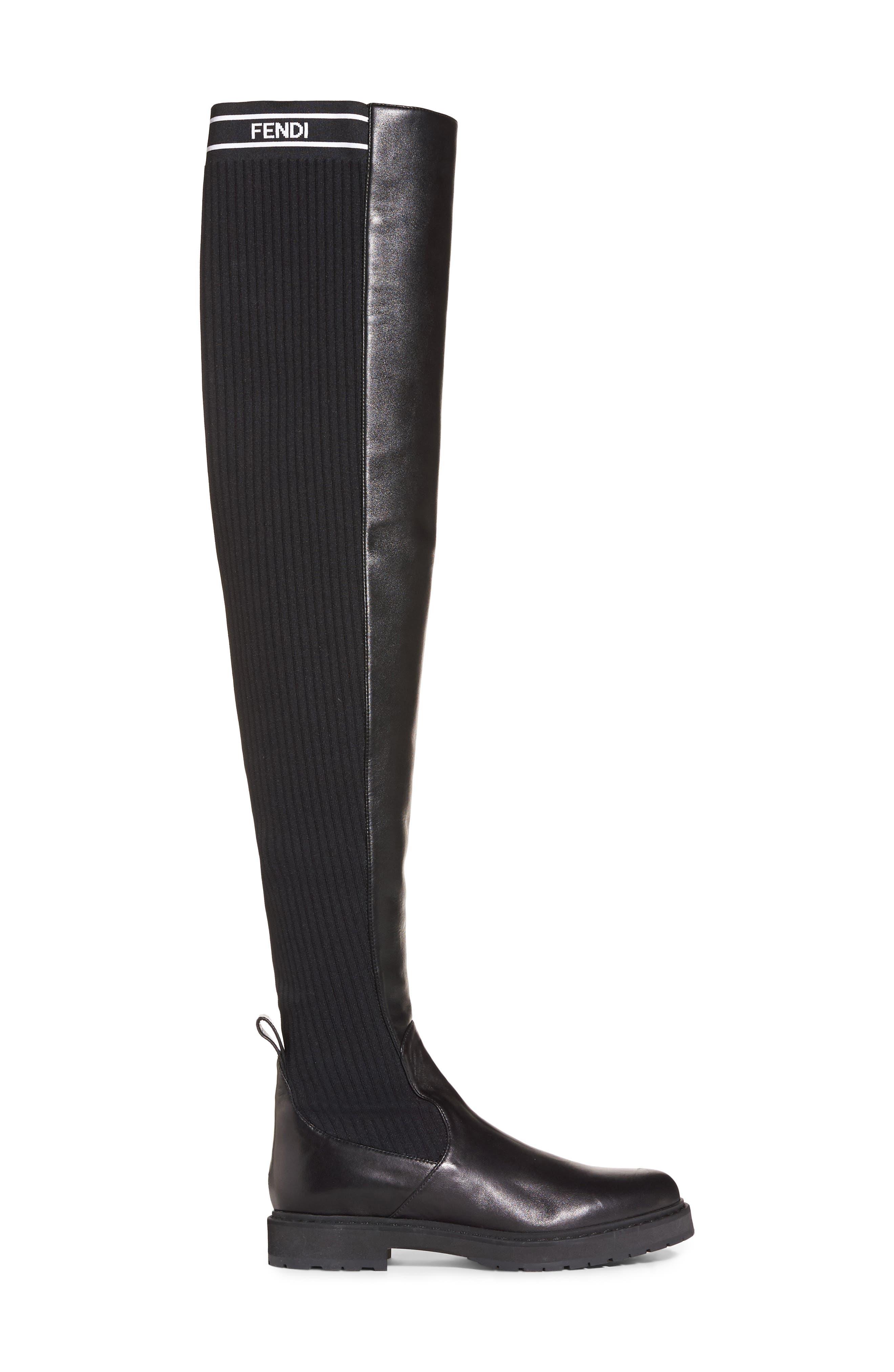 Alternate Image 4  - Fendi Logo Over the Knee Boot (Women)