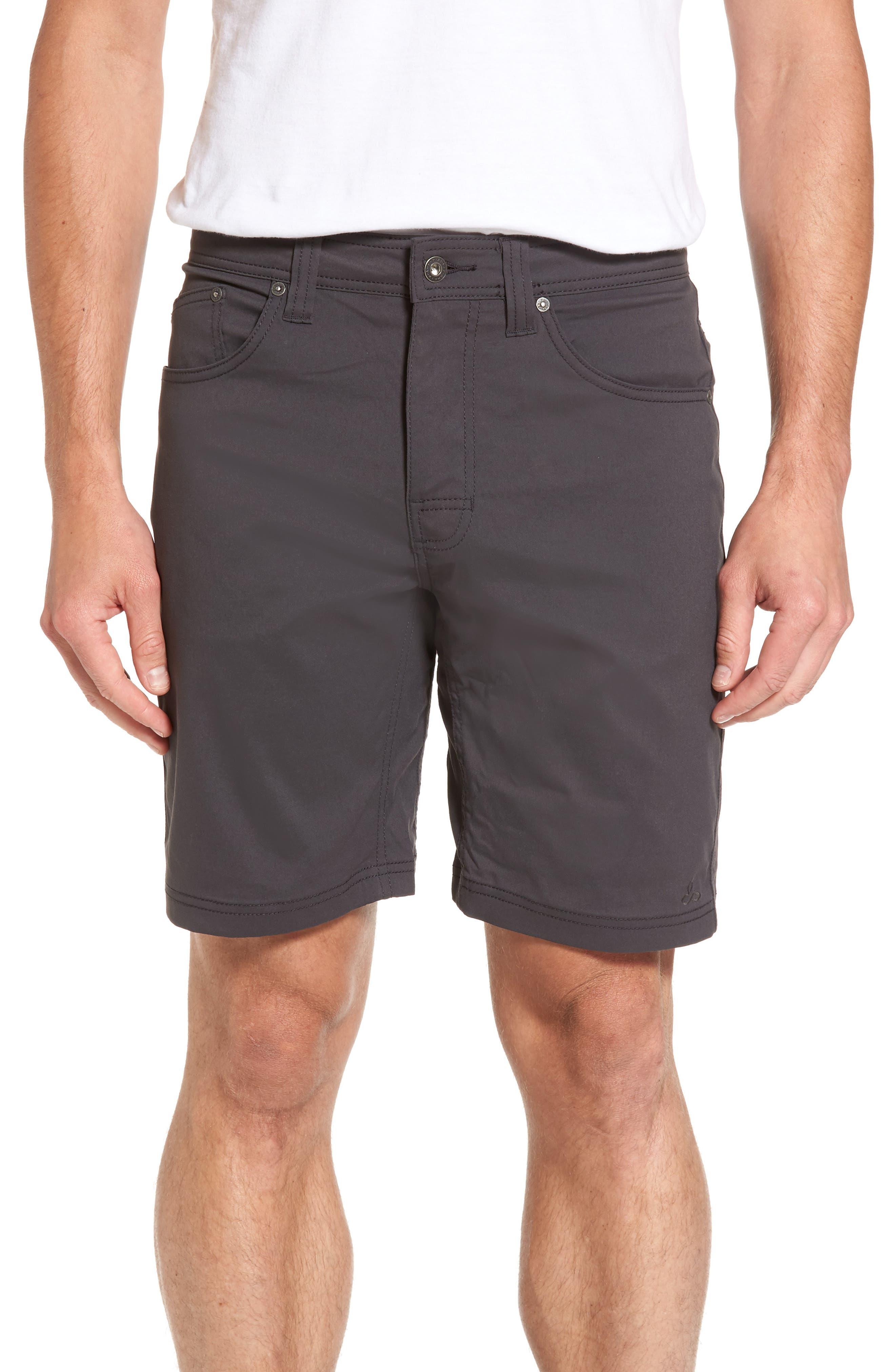 Brion Slim Fit Shorts,                         Main,                         color, Charcoal
