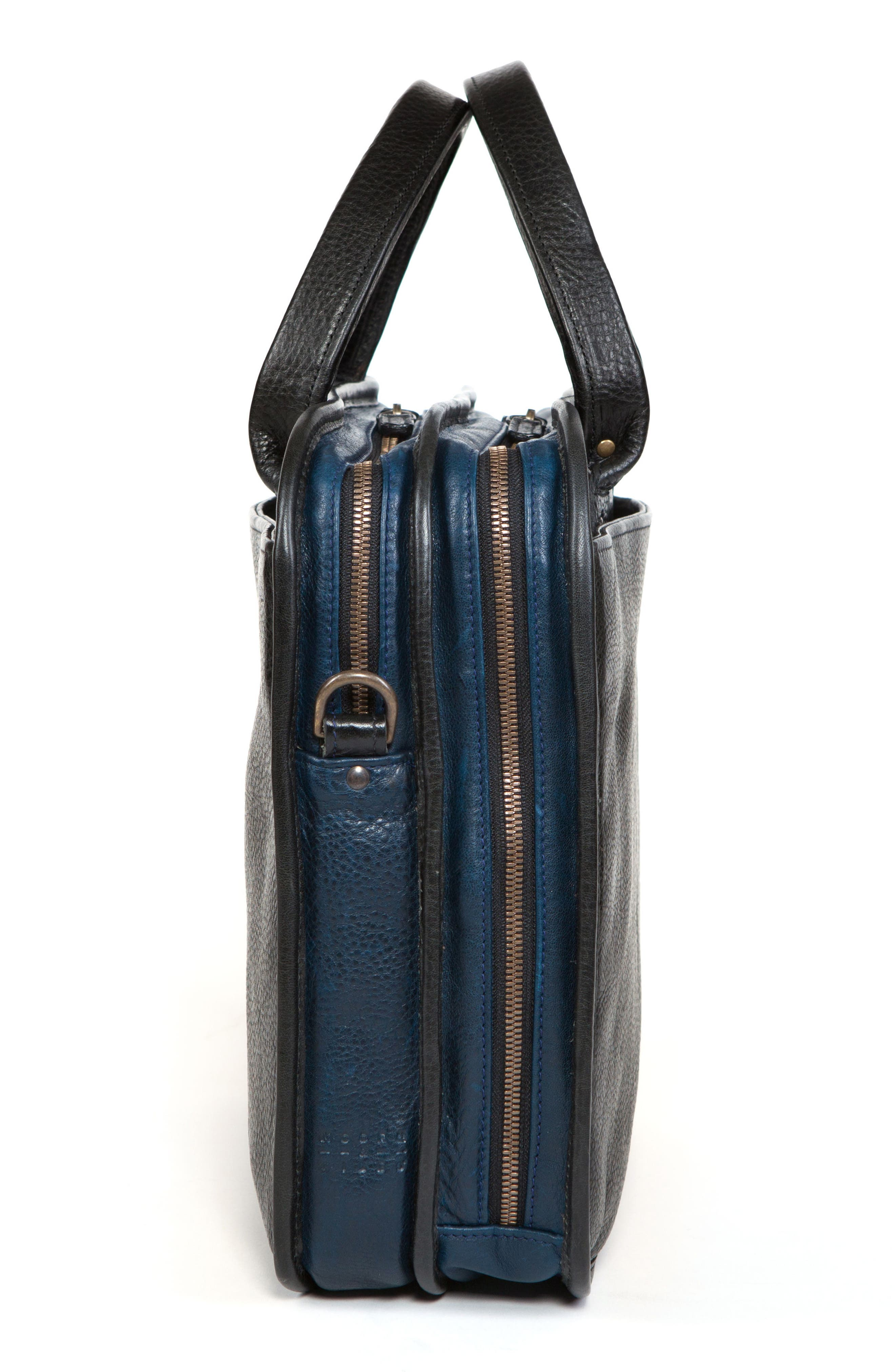 Miller Leather Briefcase,                             Alternate thumbnail 12, color,                             Titan Milled Navy And Gunmetal