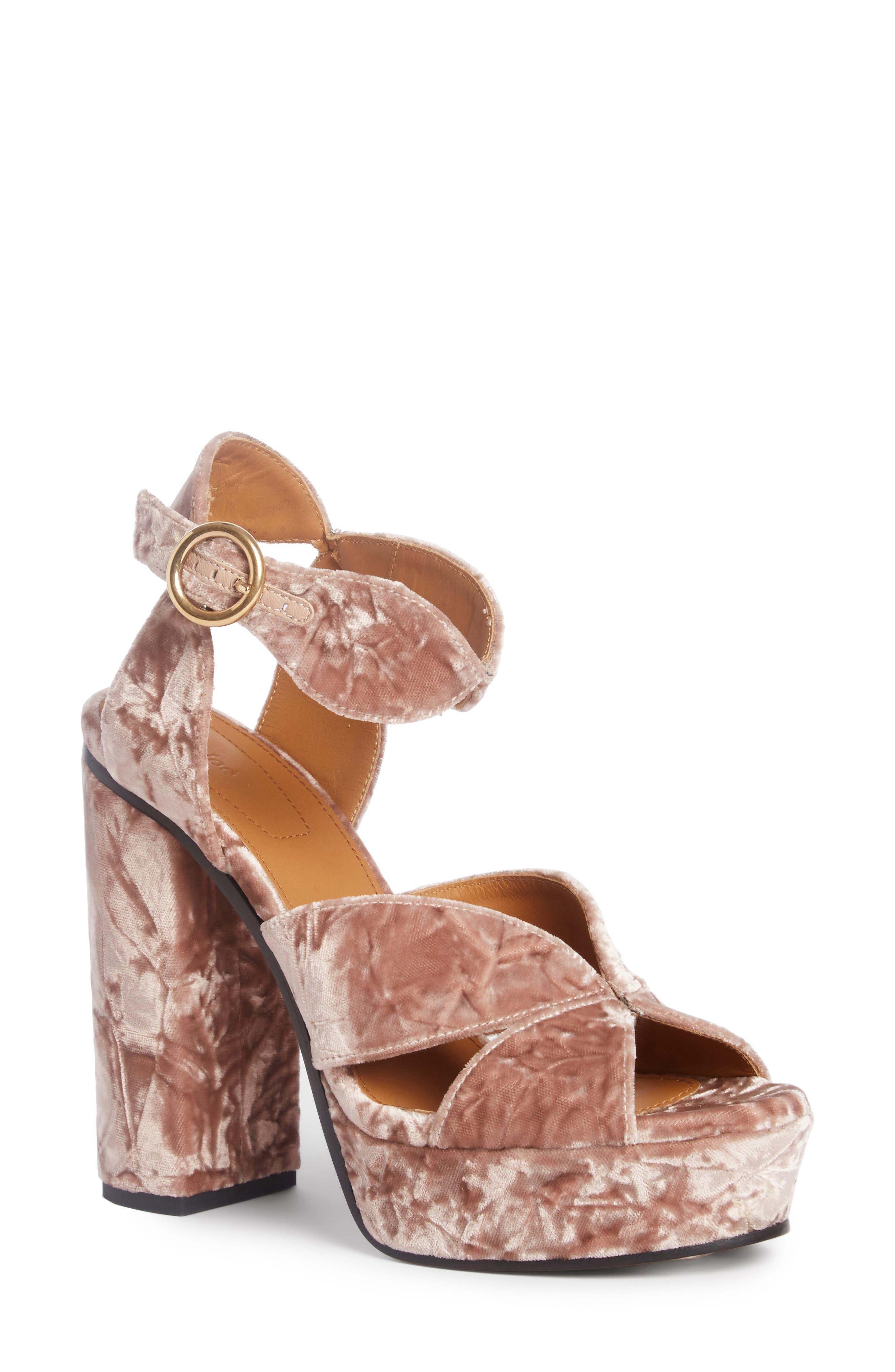 Alternate Image 1 Selected - Chloé Graphic Leaves Platform Sandal (Women)