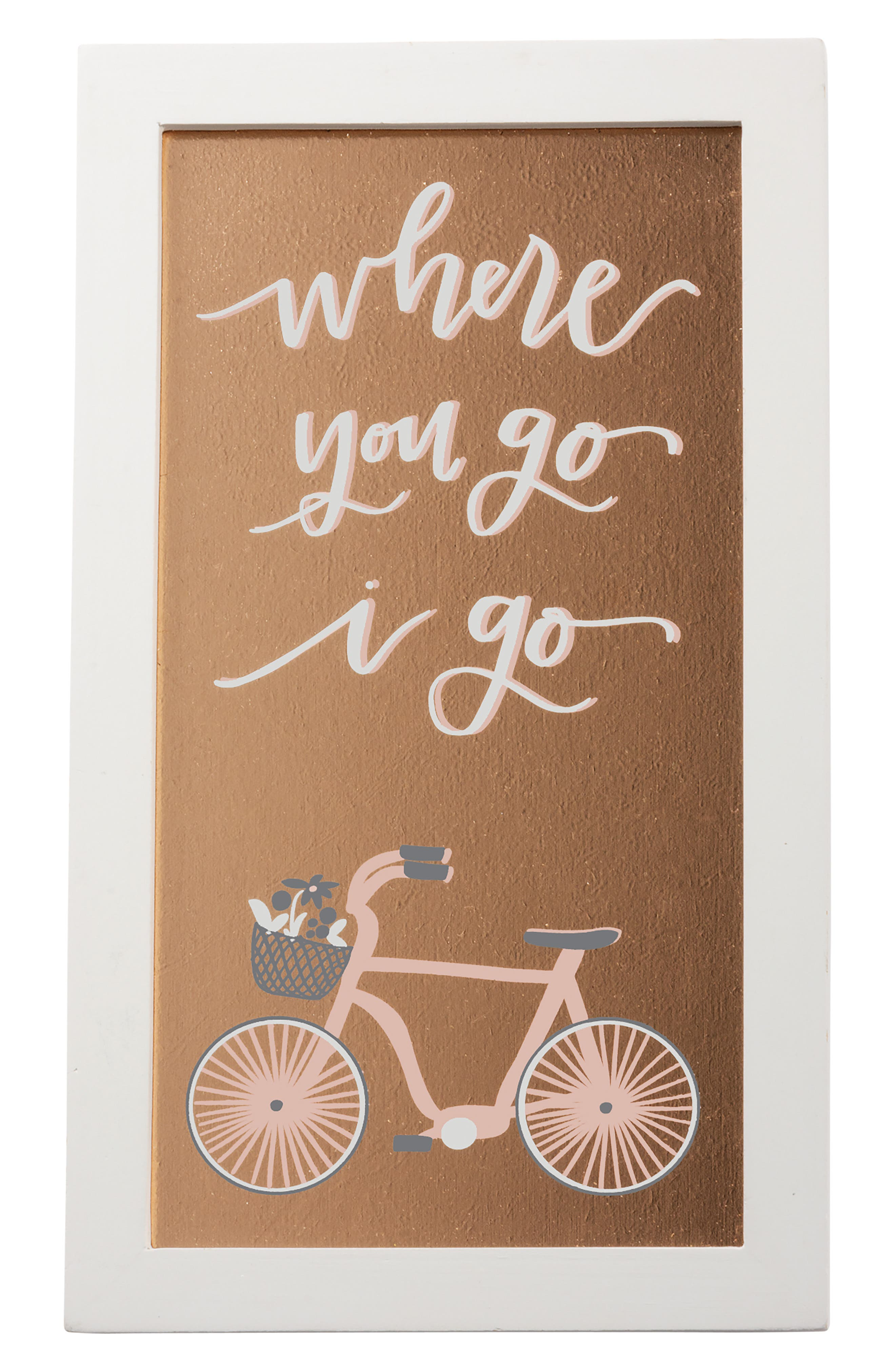 Primitives by Kathy Where You Go I Go Glass Panel Sign