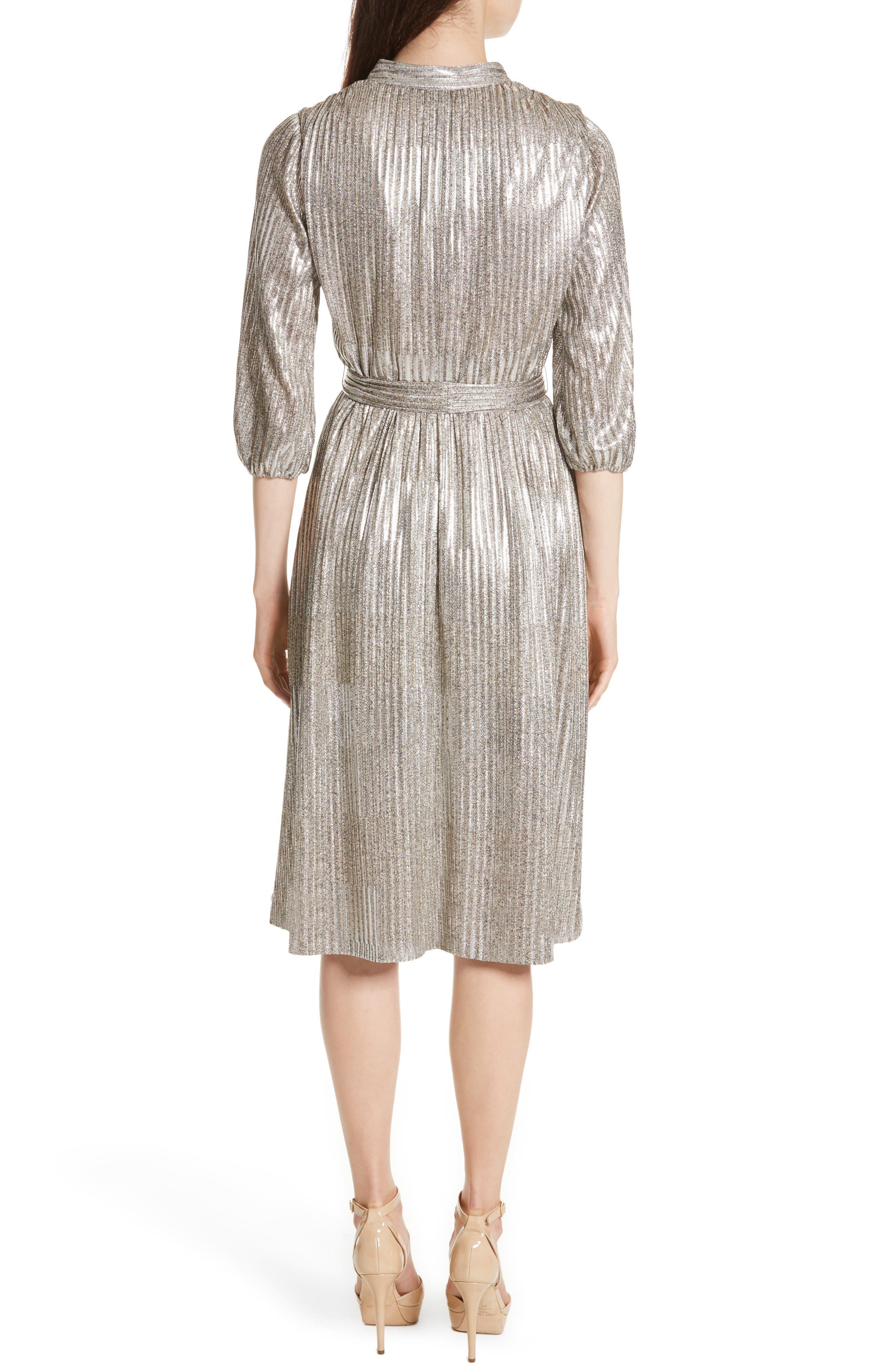 Alternate Image 2  - Alice + Olivia Katina Metallic Wrap Dress