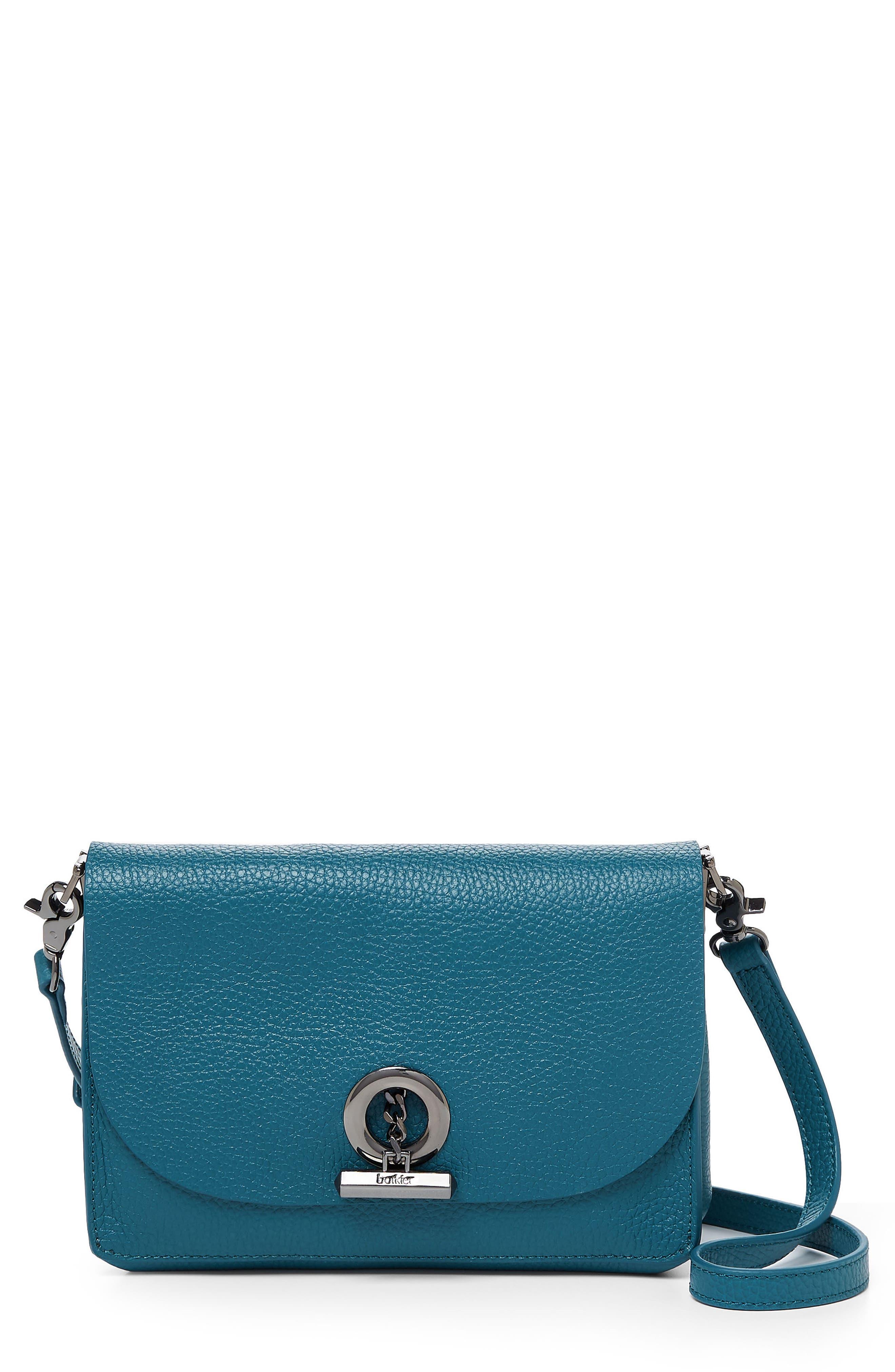 Waverly Leather Crossbody Bag,                             Main thumbnail 1, color,                             Lagoon