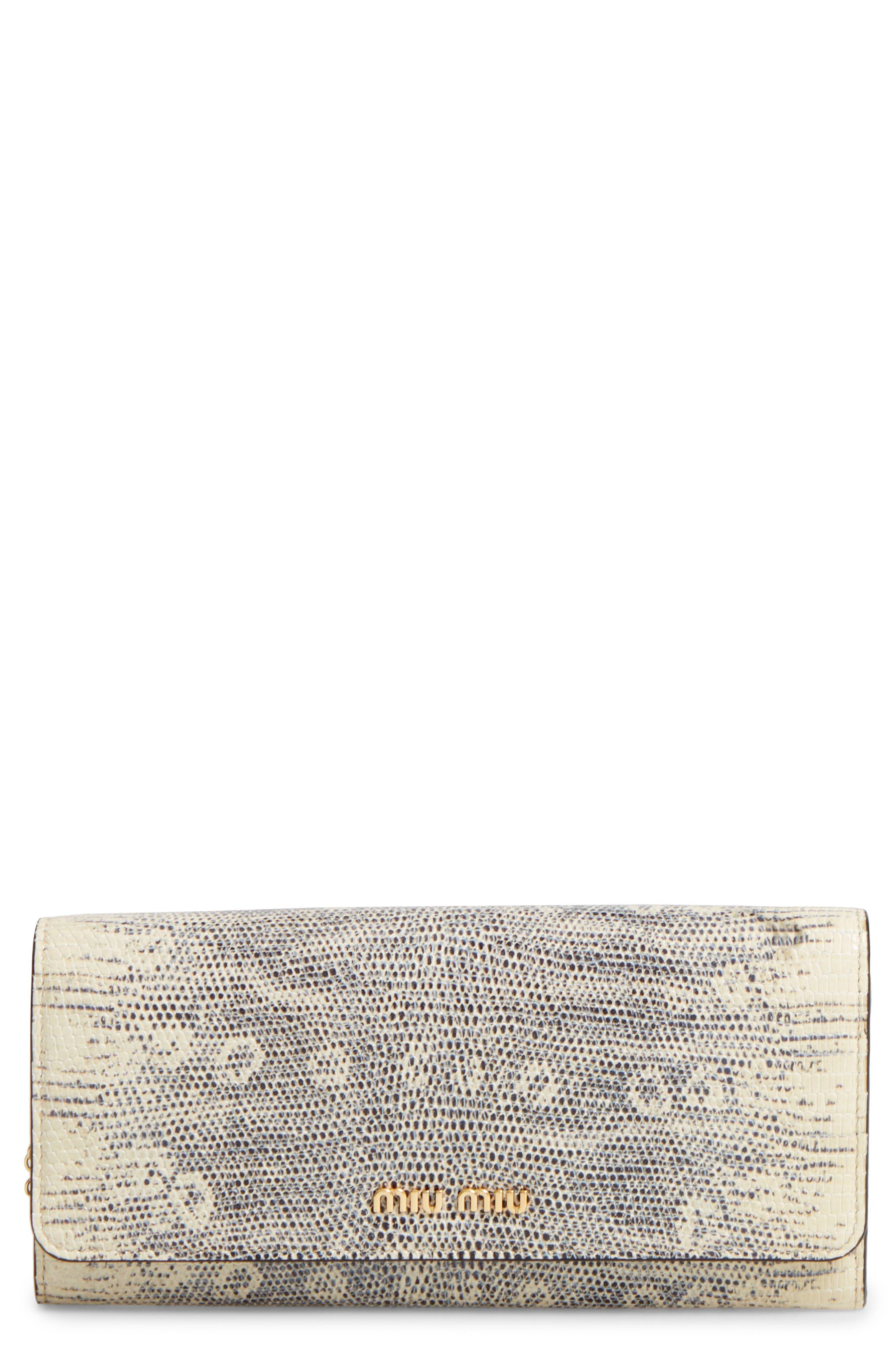 MIU MIU Leather Continental Wallet