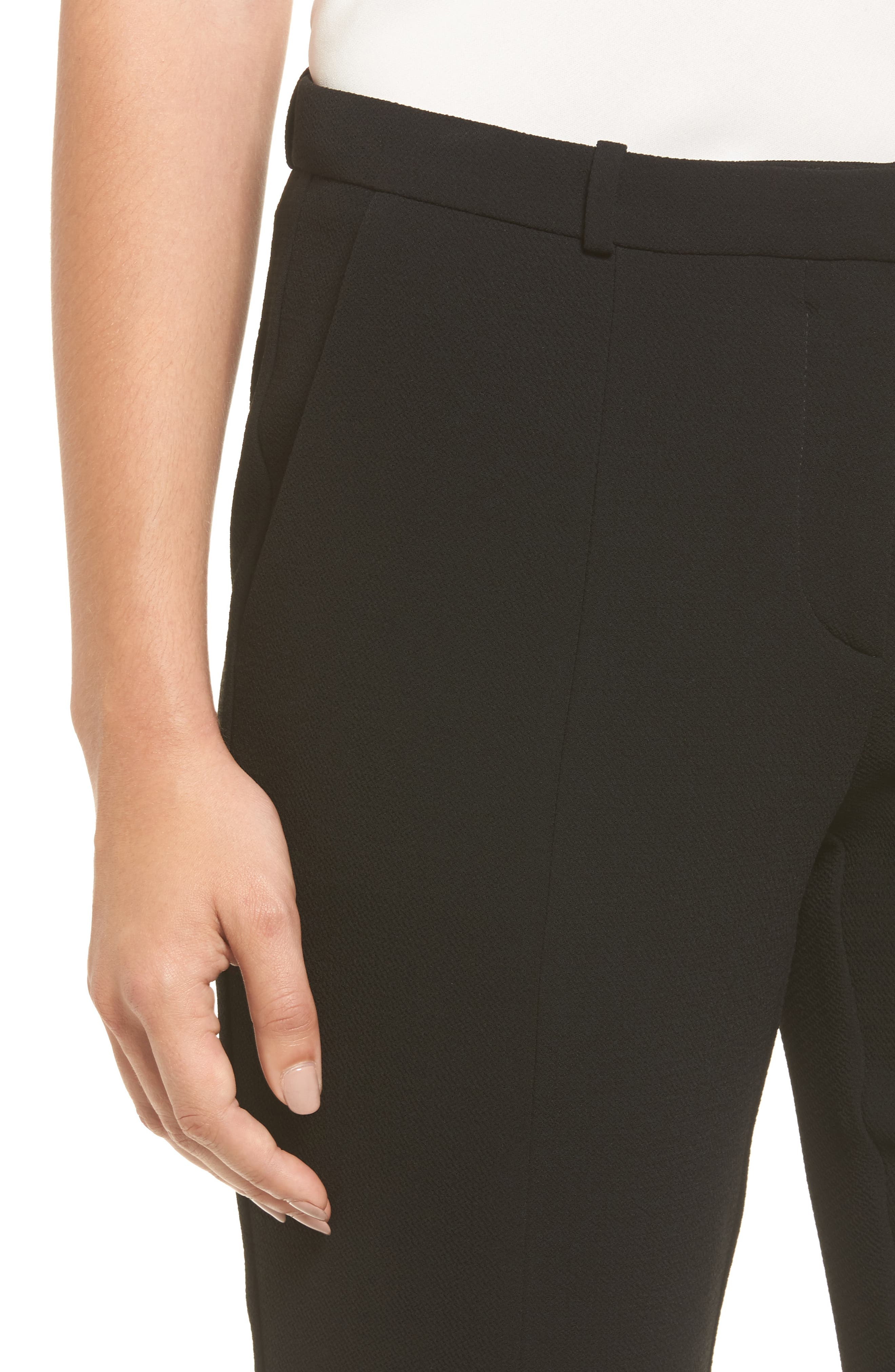 Atestelito Slim Crepe Suit Pants,                             Alternate thumbnail 4, color,                             Black