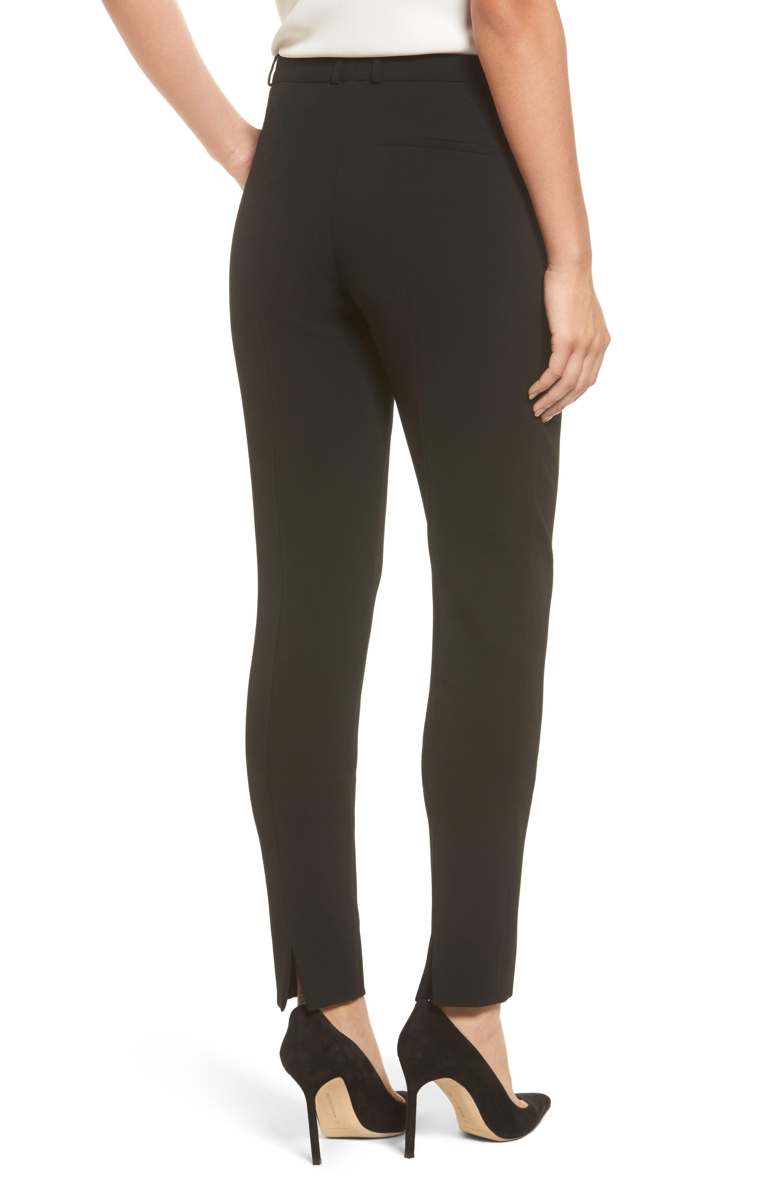 Atestelito Slim Crepe Suit Pants,                             Alternate thumbnail 2, color,                             Black