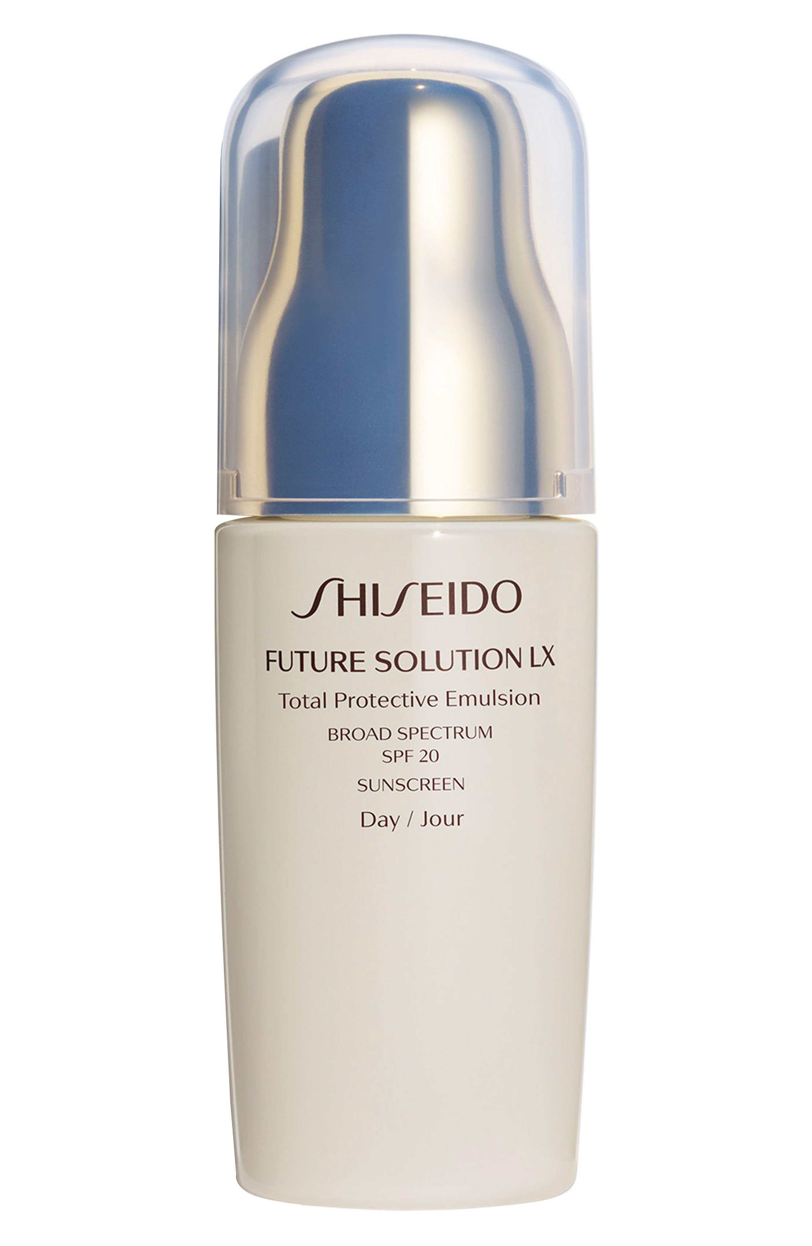 Main Image - Shiseido Future Solution LX Total Protective Emulsion Broad Spectrum SPF 20 Sunscreen