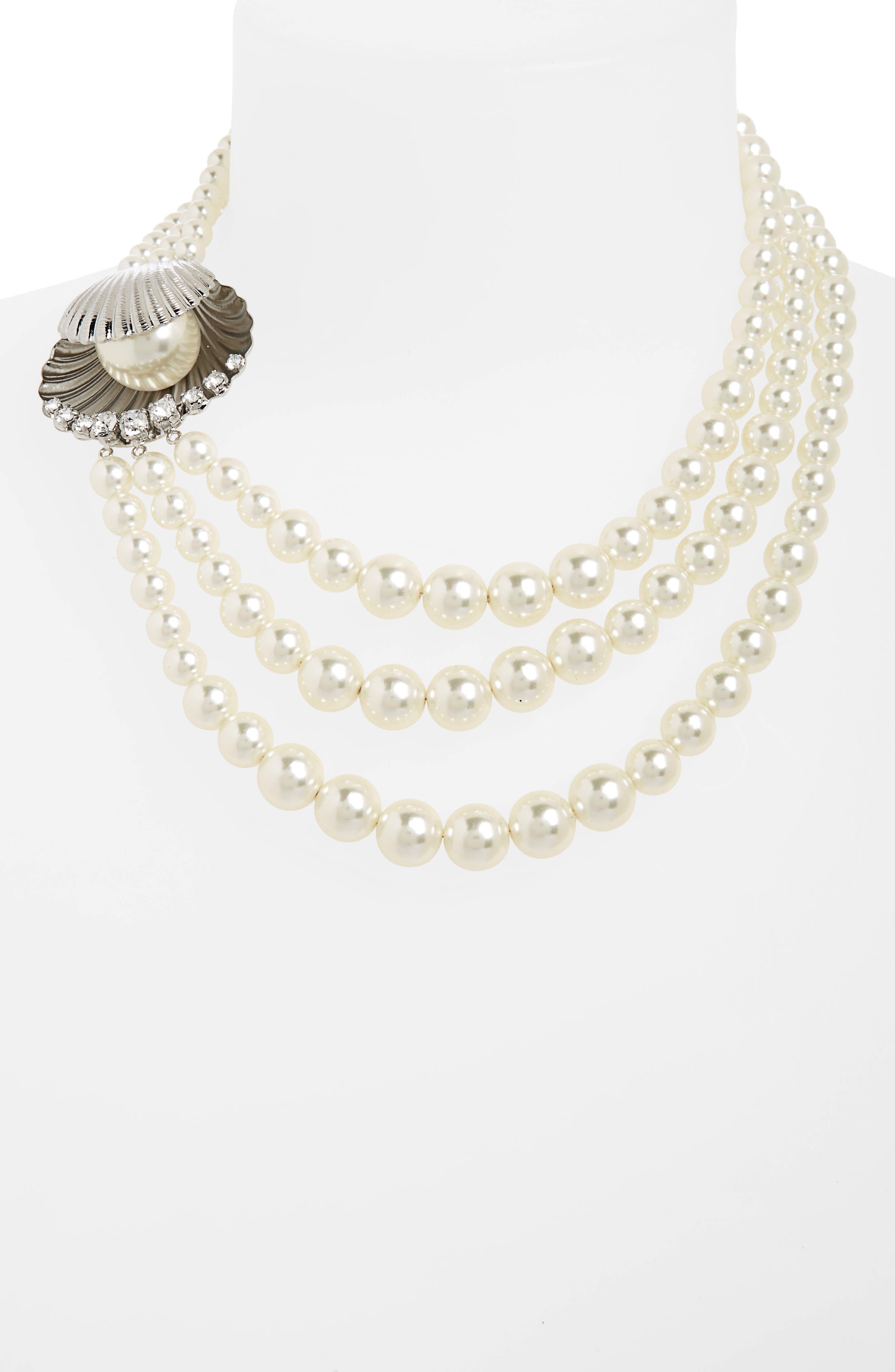Alternate Image 2  - Miu Miu Multistrand Imitation Pearl Necklace