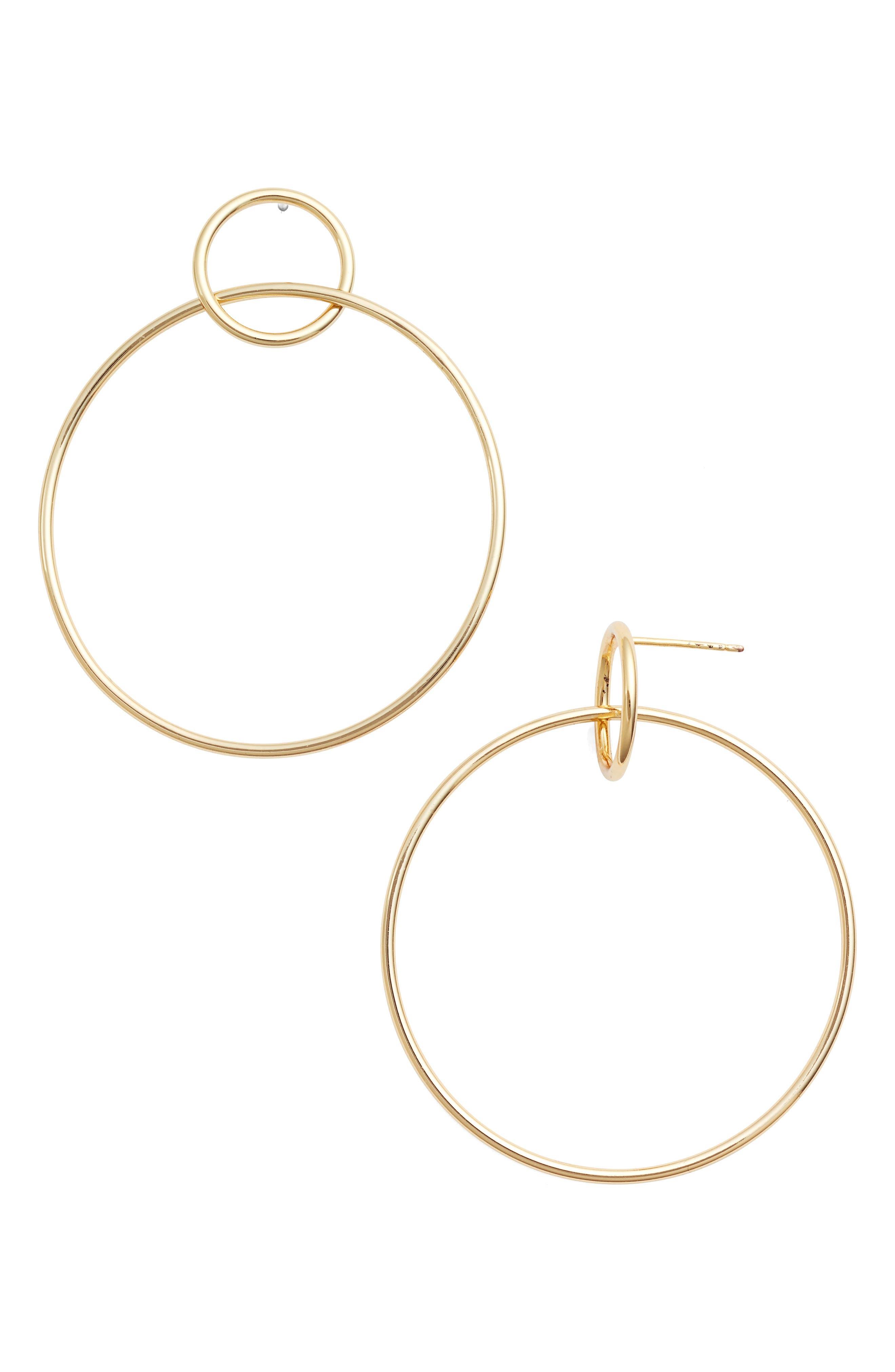 Alternate Image 1 Selected - Jules Smith Circle Hoop Earrings