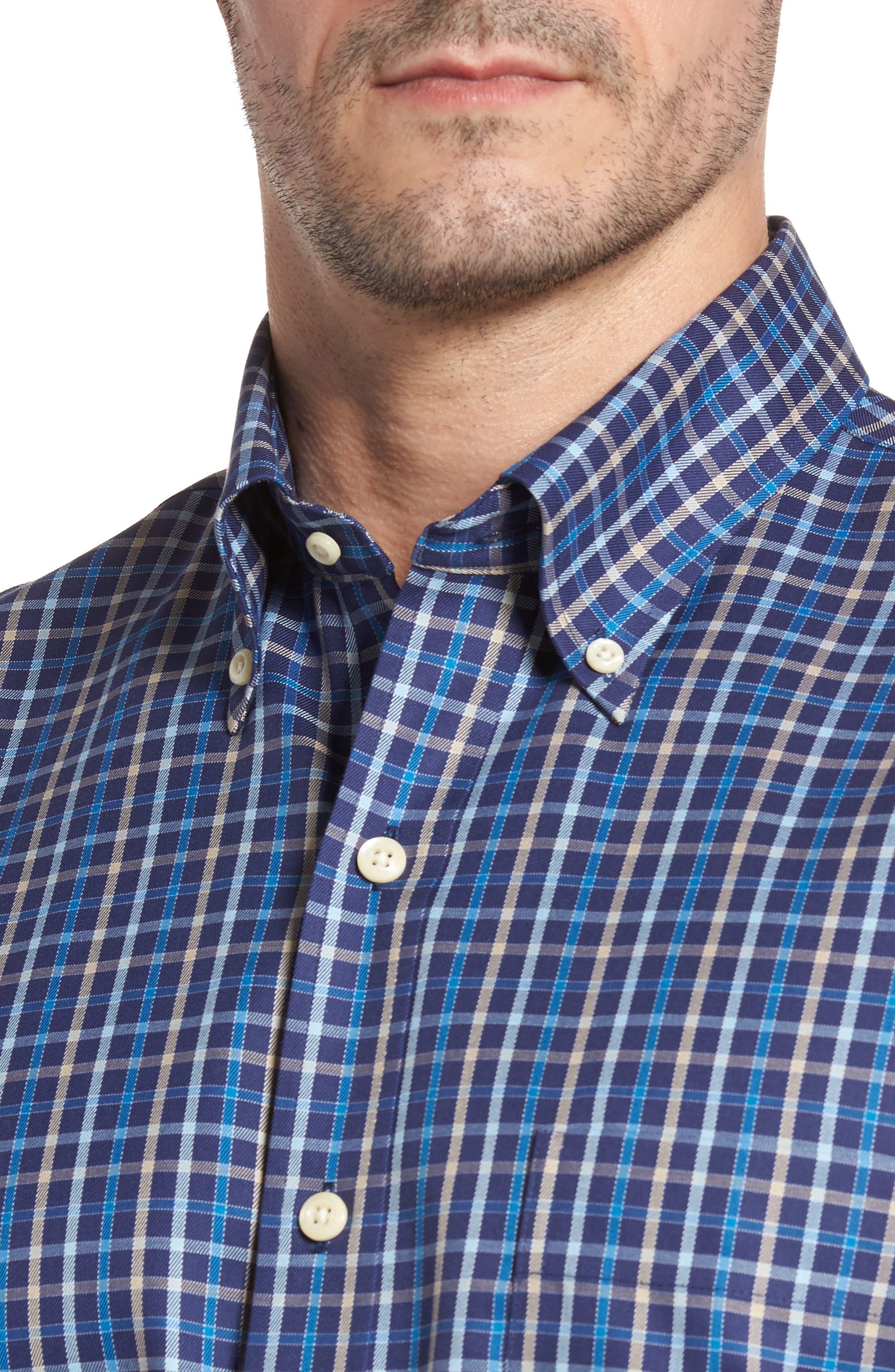 Alternate Image 4  - Peter Millar Nanoluxe Pinwheel Regular Fit Check Sport Shirt