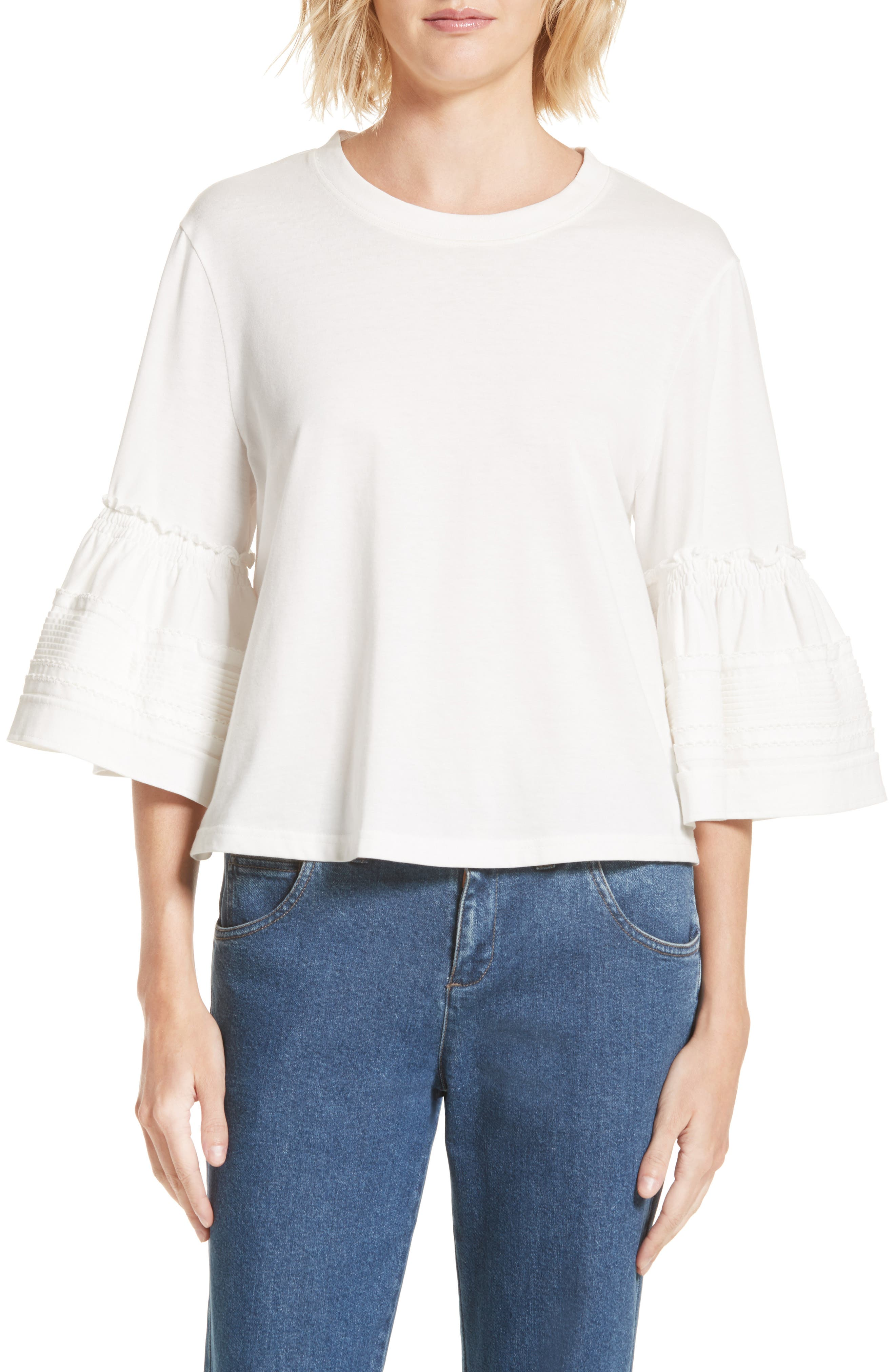 Alternate Image 1 Selected - See by Chloé Bell Sleeve Top