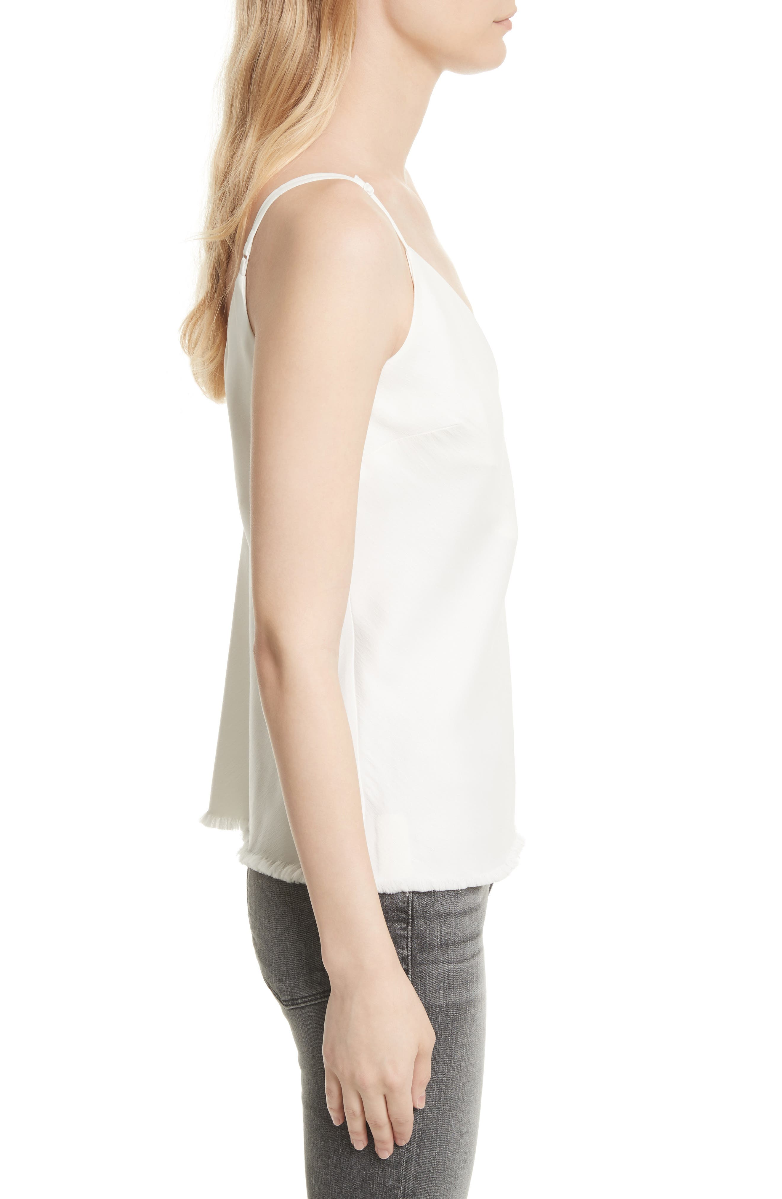 Satin Bias Tank,                             Alternate thumbnail 3, color,                             Off White