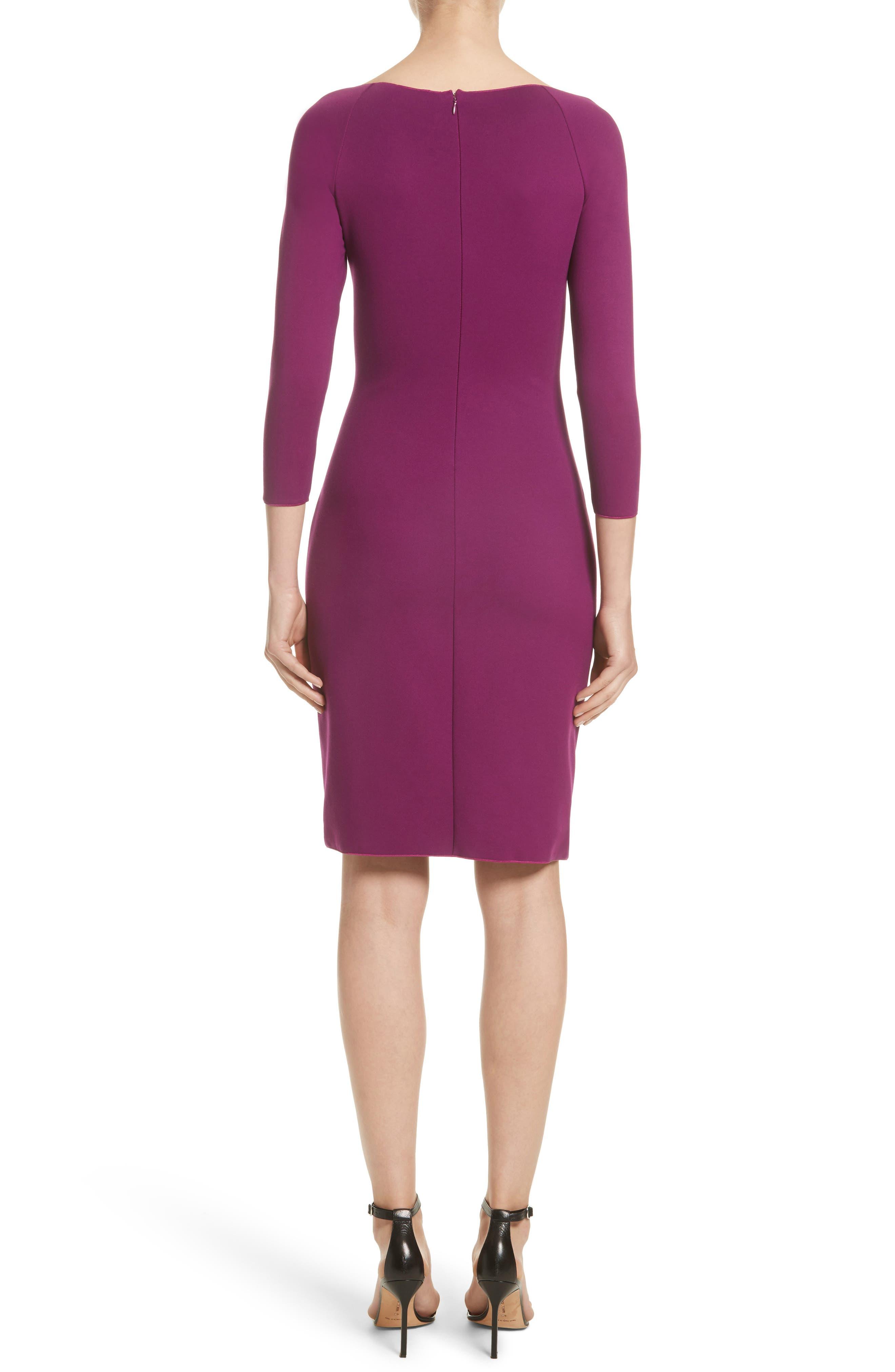 Alternate Image 2  - Armani Collezioni Milano Jersey Petal Hem Dress (Nordstrom Exclusive)