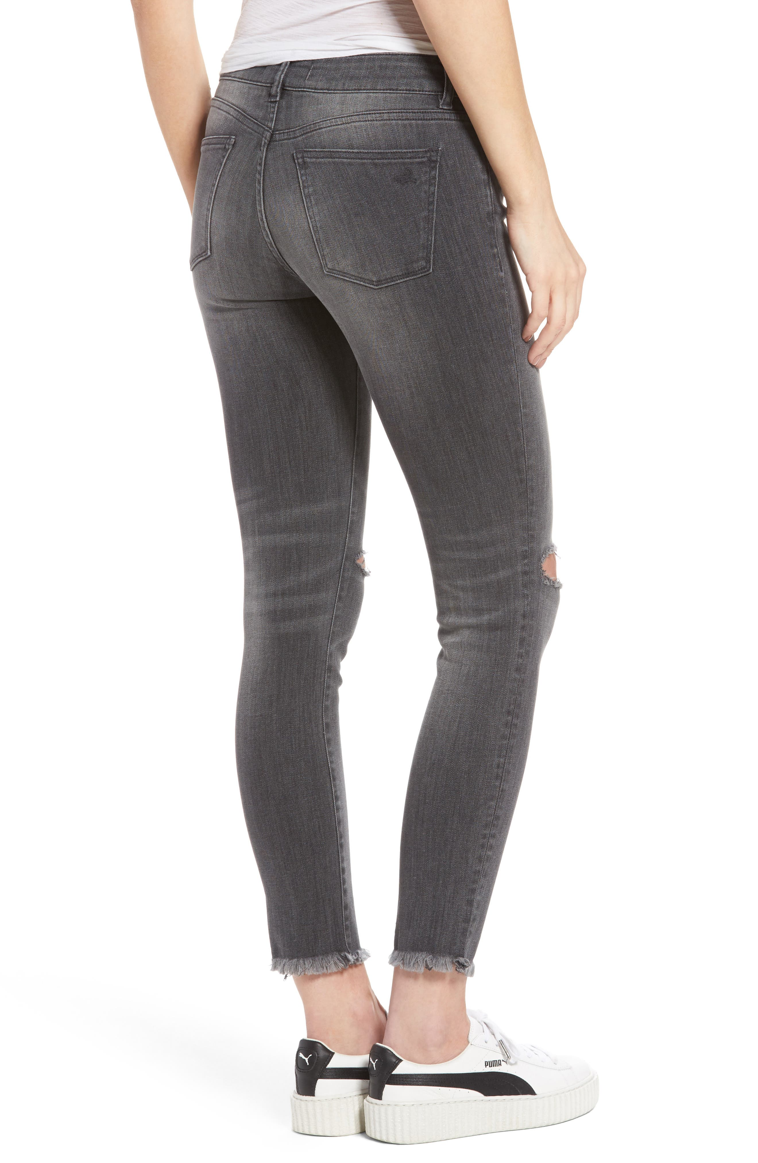 Margaux Ripped Ankle Skinny Jeans,                             Alternate thumbnail 2, color,                             Quaker