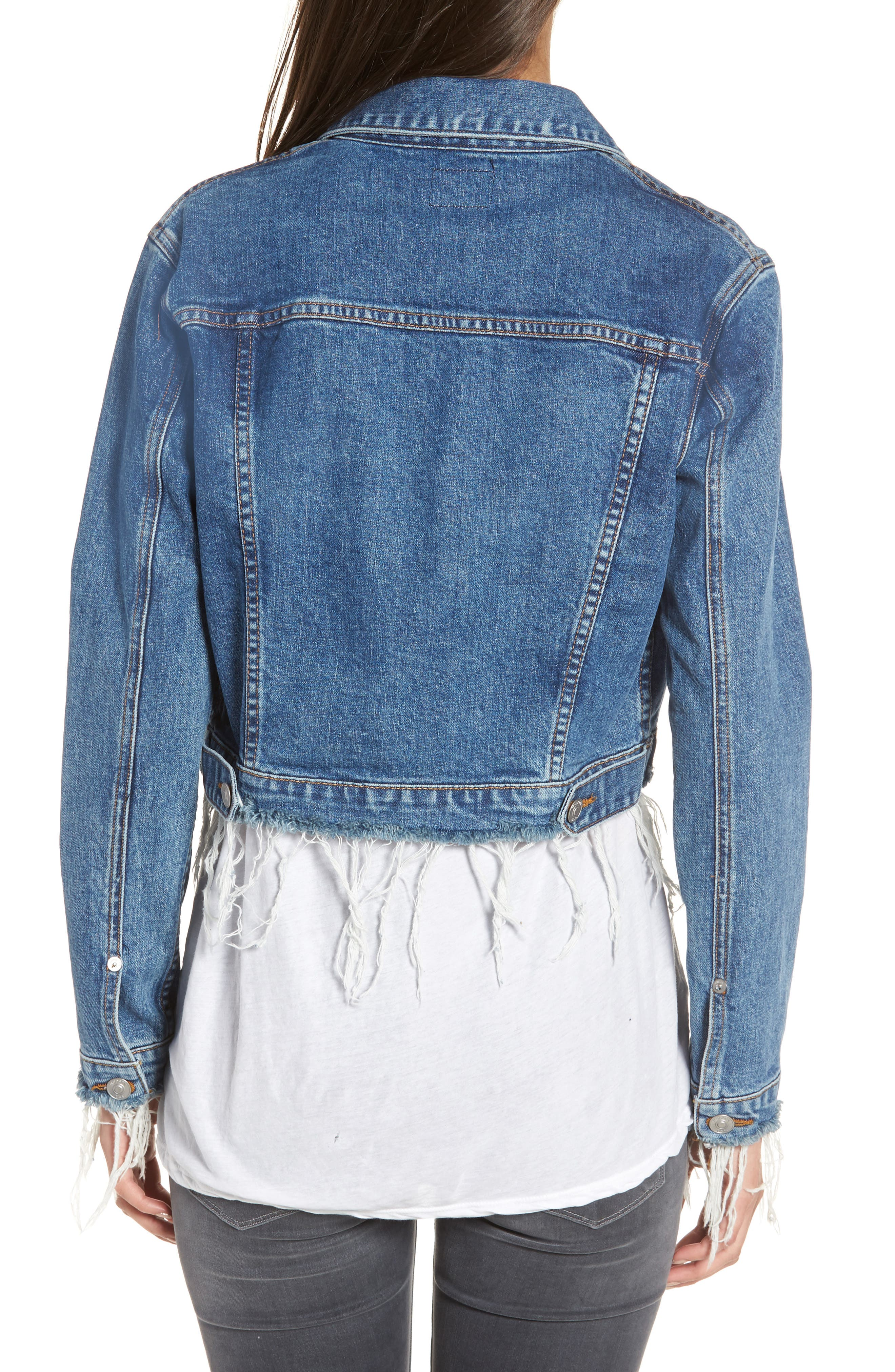Garrison Crop Denim Jacket,                             Alternate thumbnail 2, color,                             Continuum